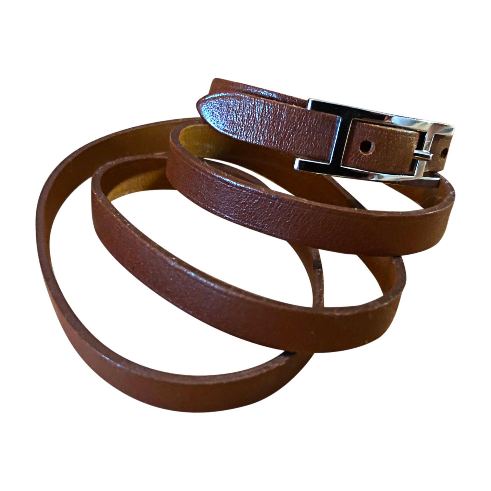 Bracelet HERMÈS hapi marron vendu par Ashleyblc - 8281838 c5821e7a09a