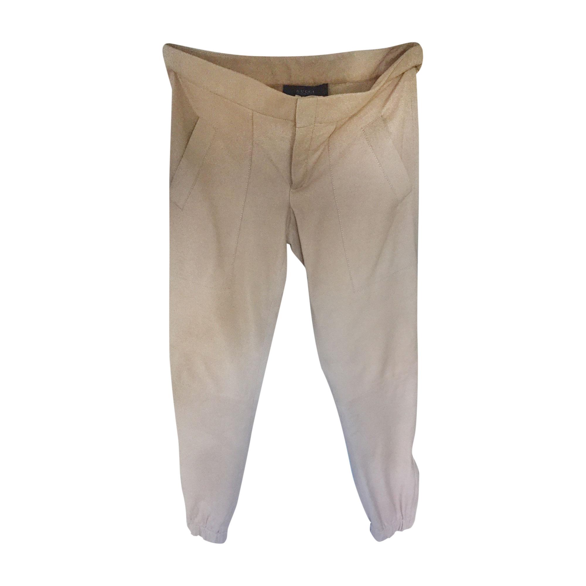 Skinny Pants, Cigarette Pants GUCCI Beige, camel