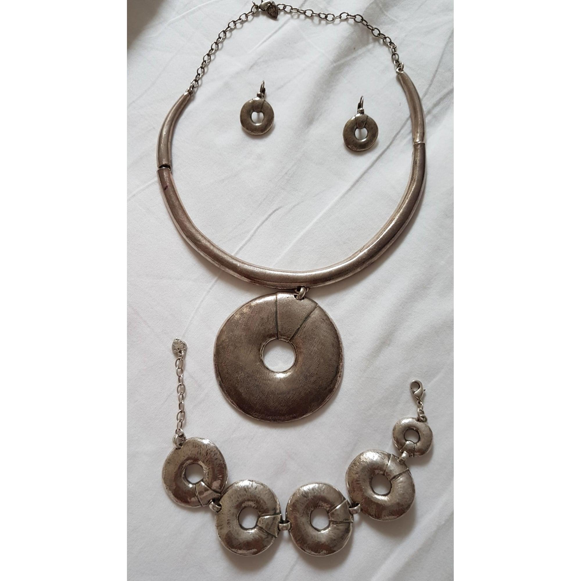 Parure bijoux LILI LA PIE acier ou métal argent