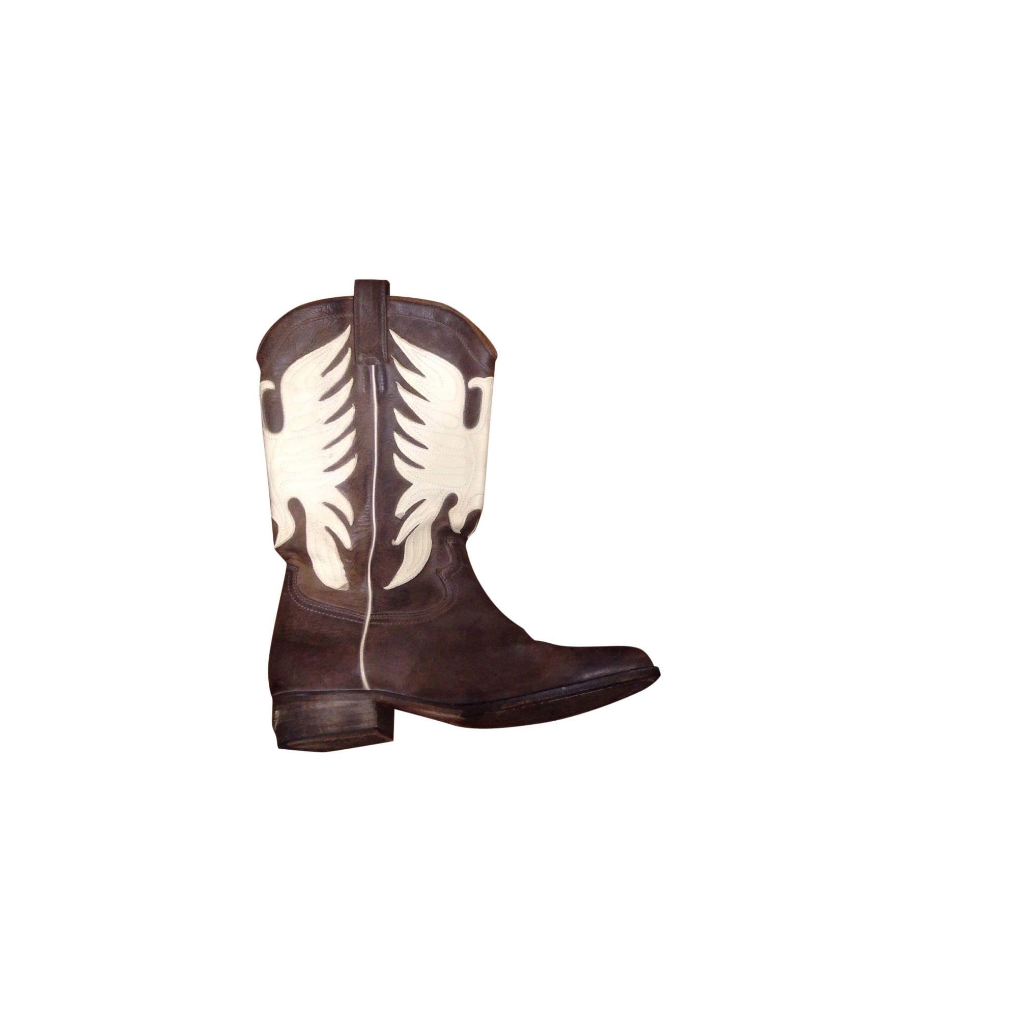 Santiags, bottes cowboy ZADIG \u0026 VOLTAIRE Marron
