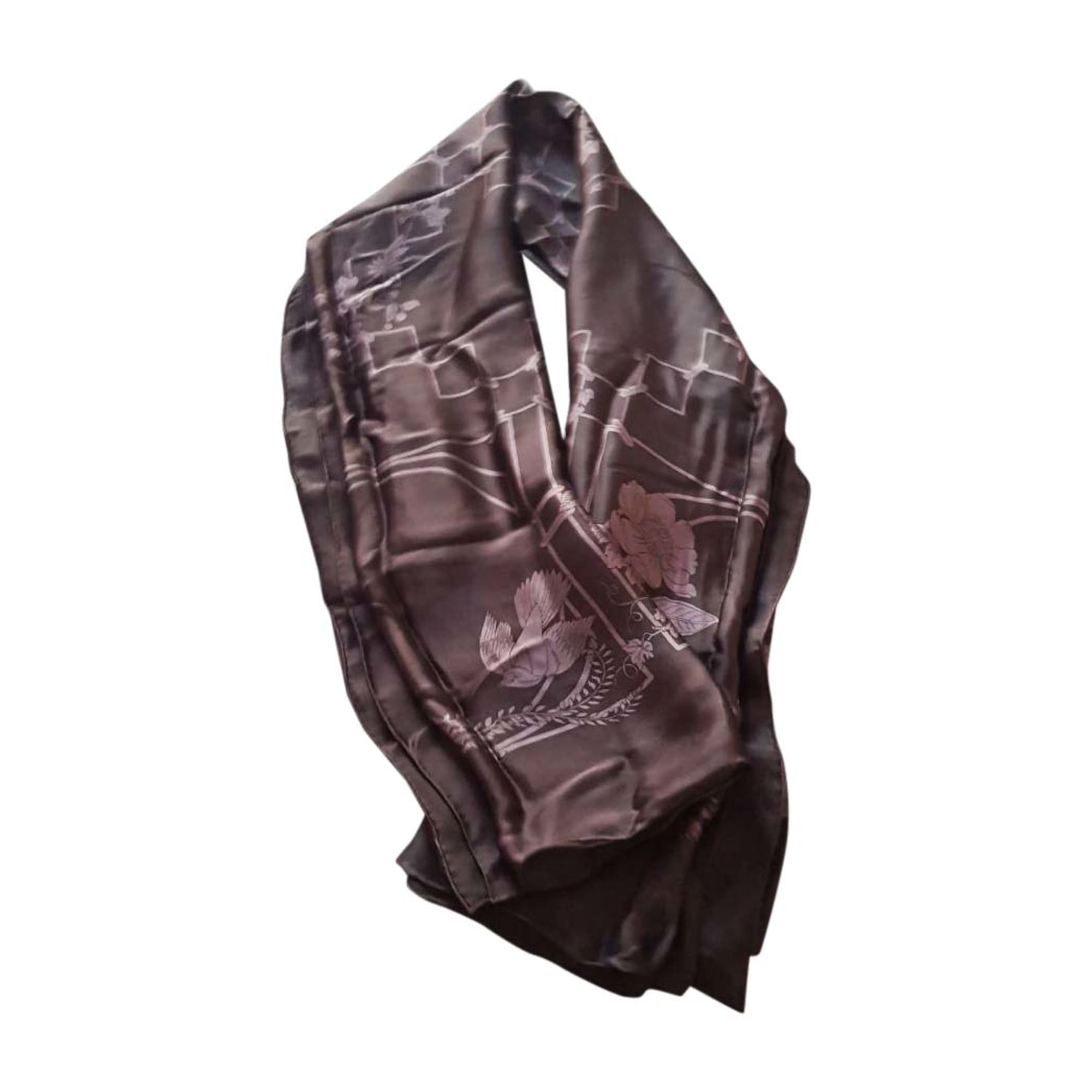 Silk Scarf GUCCI prune e rose pale