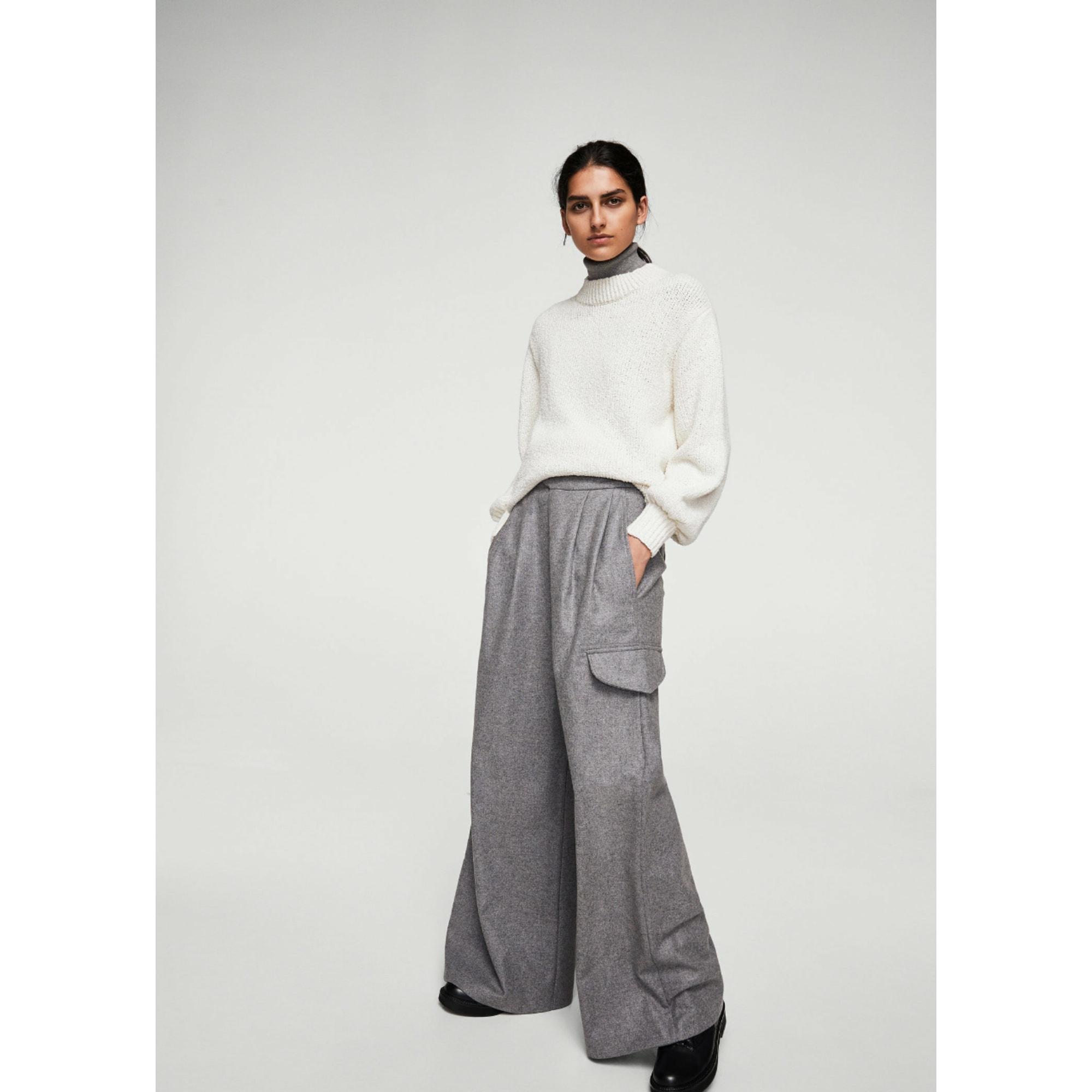 Pantalon large Mango taille haute 38