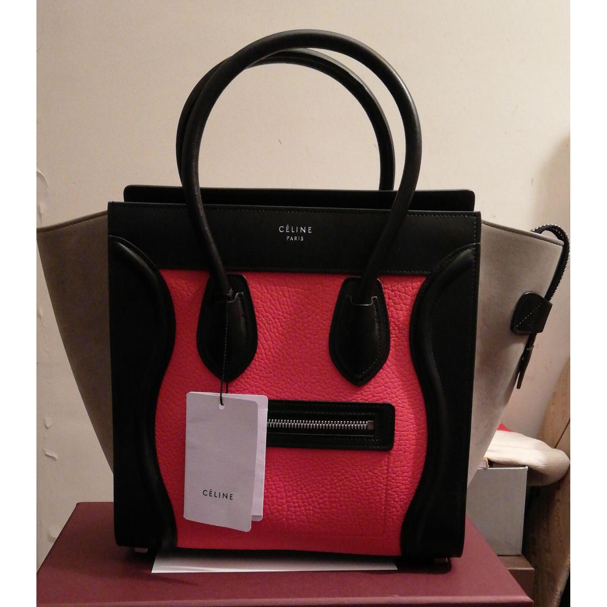 En Céline Main Cuir À Sac Rose 8309908 Luggage 53A4jLR