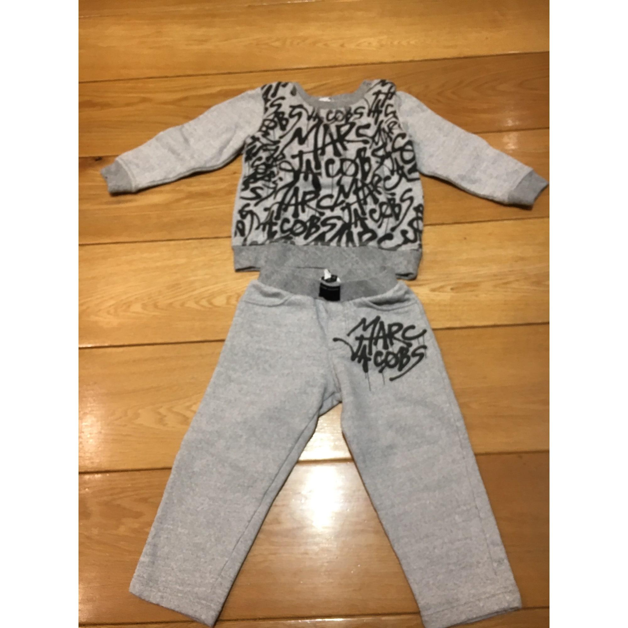 Ensemble jogging coton gris 3-4 ans