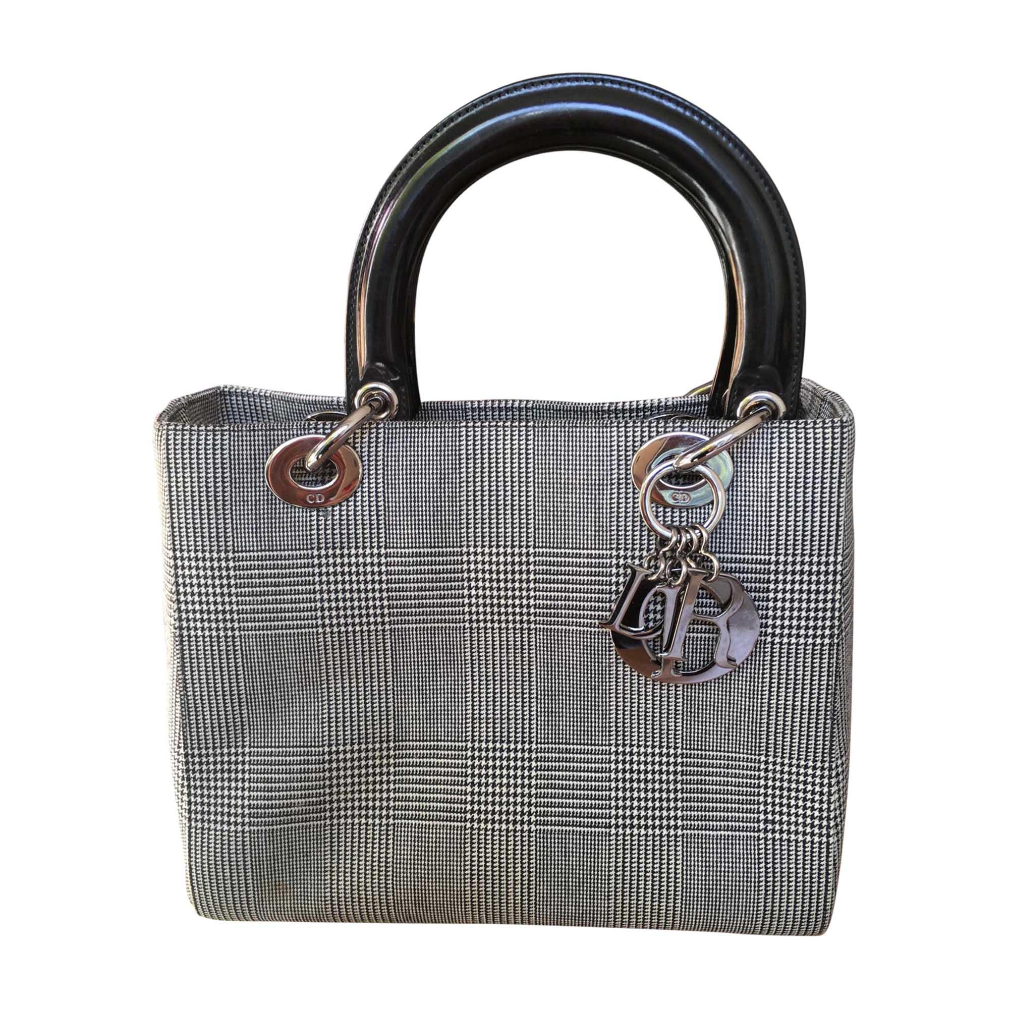 14838672836 Sac à main en tissu DIOR lady dior gris vendu par Les folies de ...