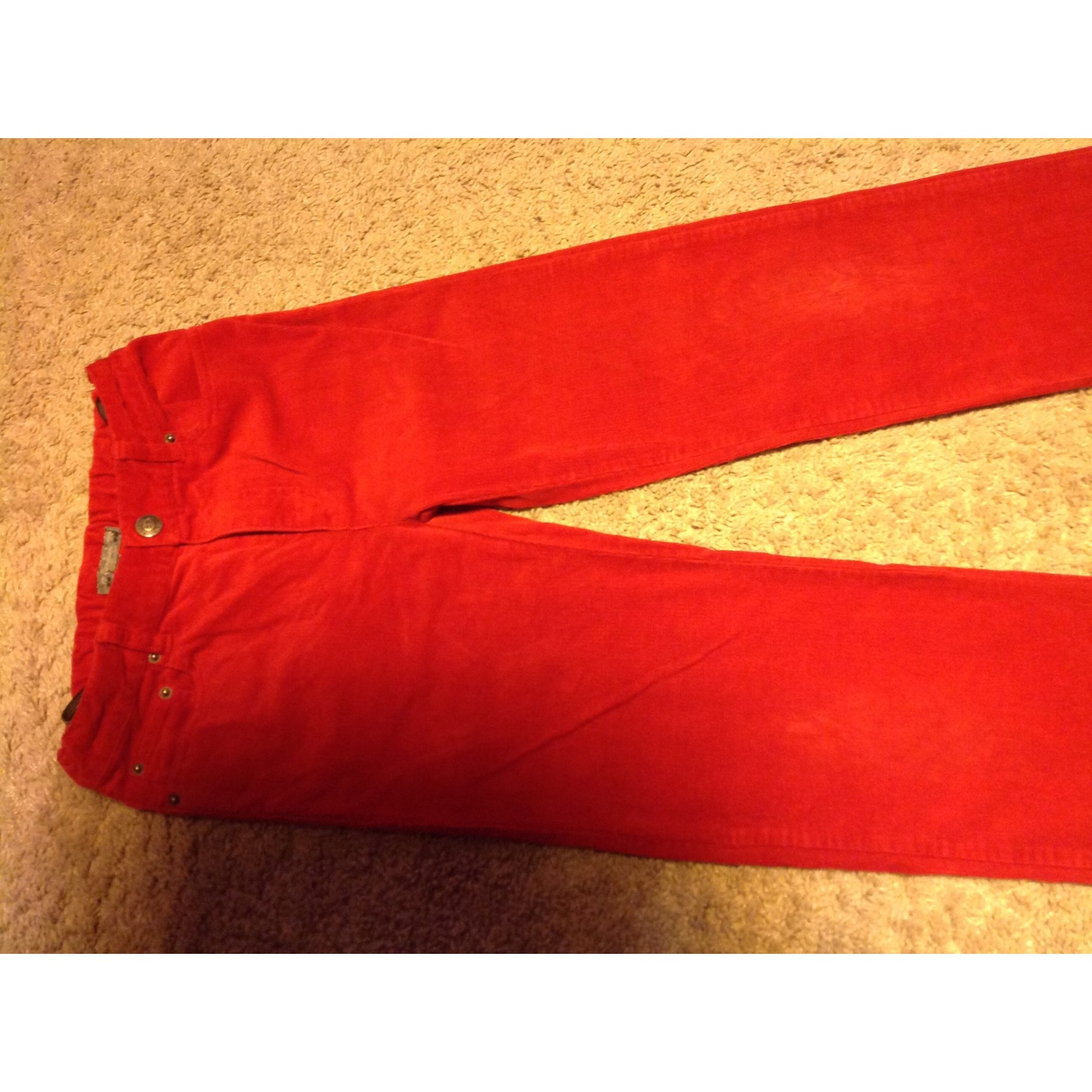Pants BONPOINT Red, burgundy