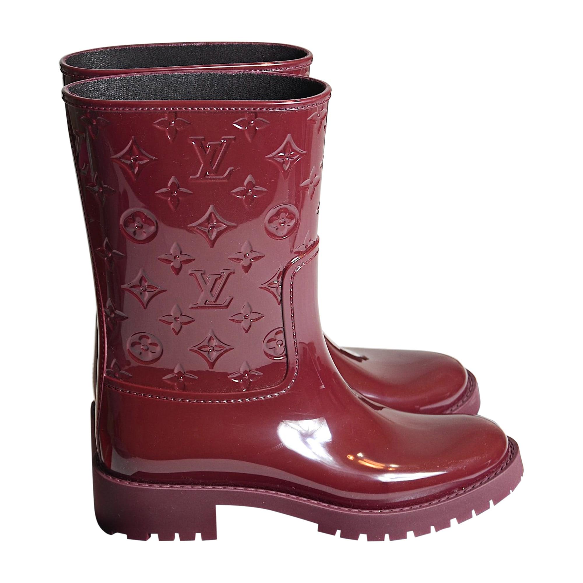 Bottes de pluie LOUIS VUITTON 41 rouge - 8320091 45910dad59c