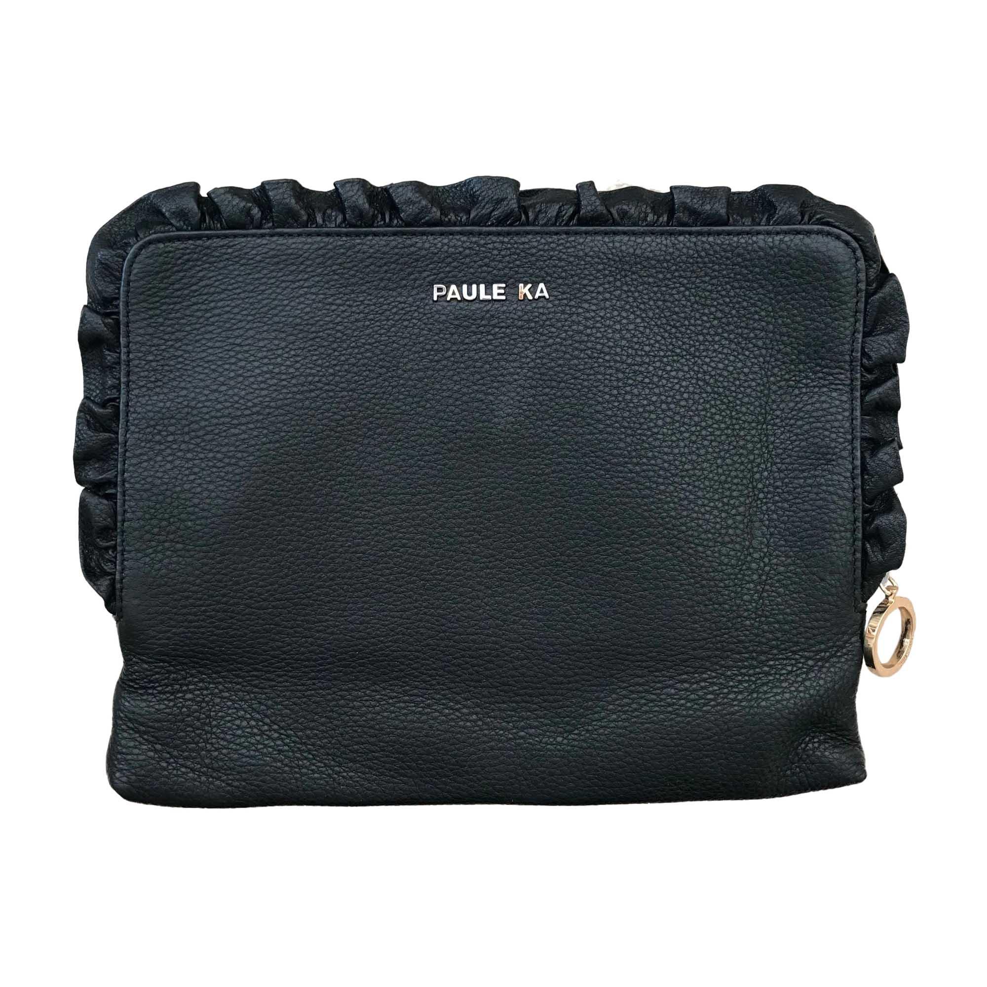 Pochette PAULE KA cuir noir