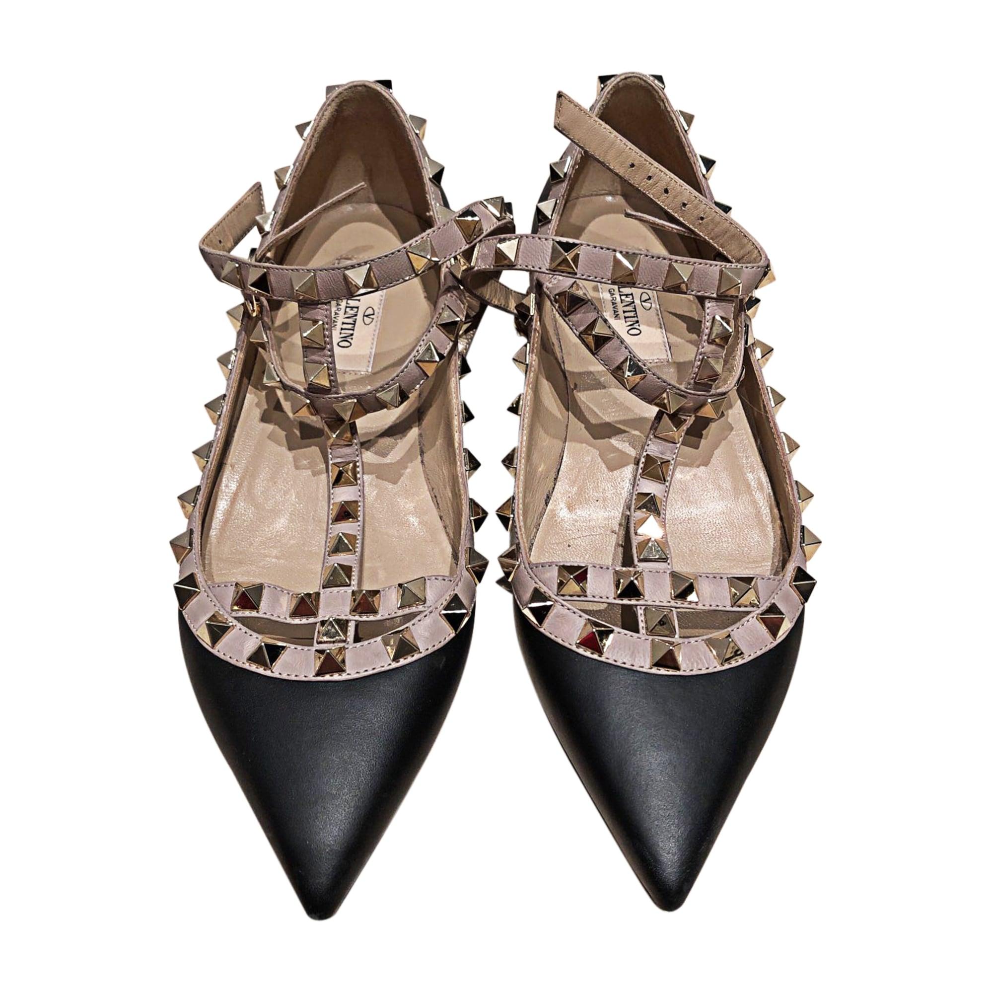 nouvelle arrivée Promotion de ventes Style magnifique Ballerines VALENTINO rockstud 35,5 doré - 8321338