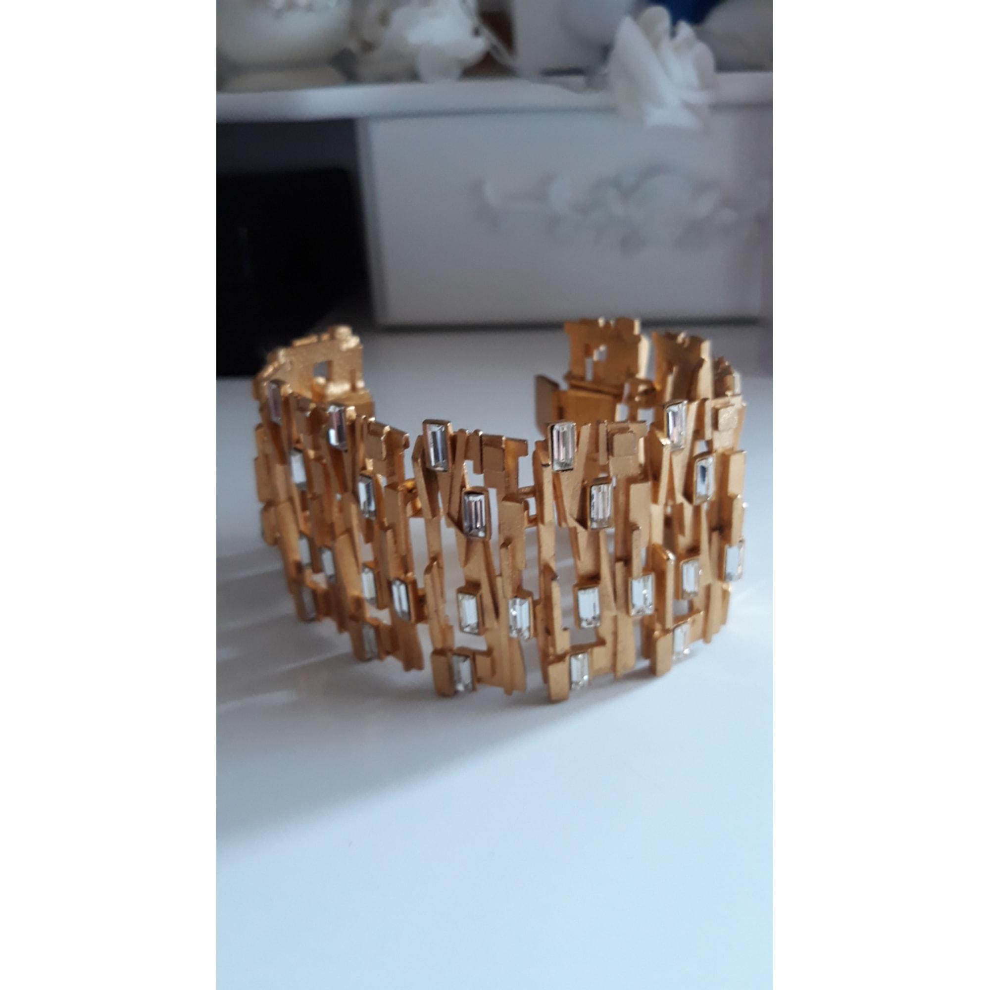 Bracelet CLAUDE MONTANA métal doré