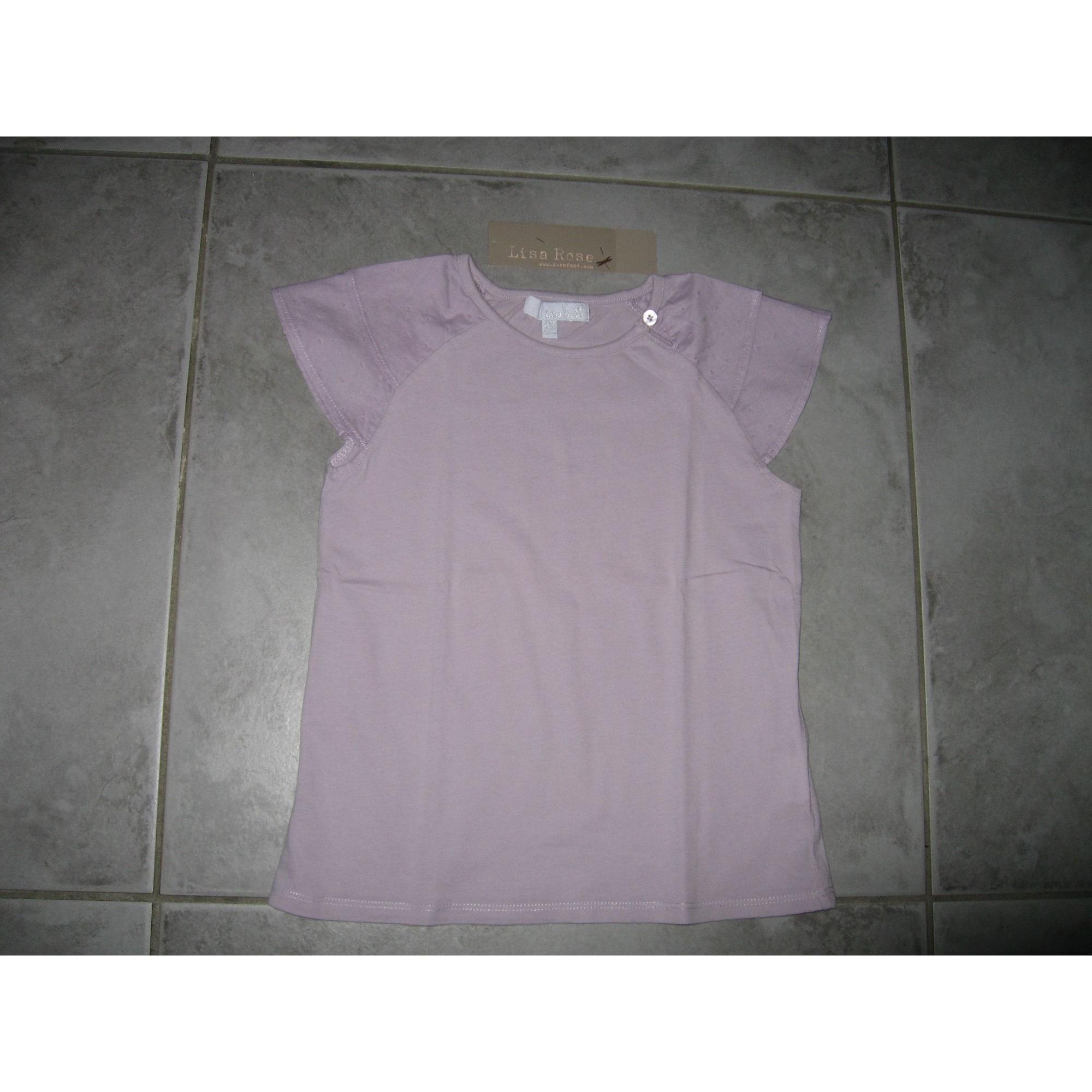 Top, Tee-shirt LISA ROSE Violet, mauve, lavande