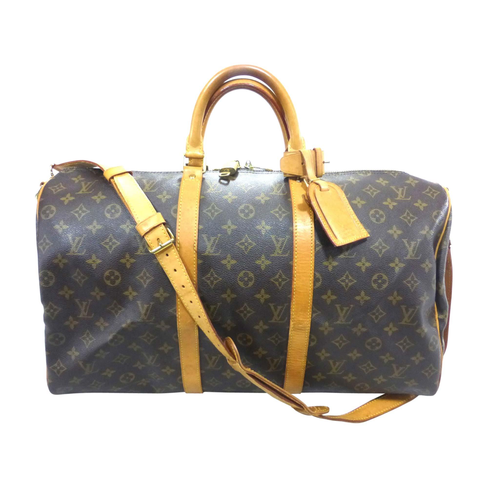Sac XL en cuir LOUIS VUITTON keepall marron vendu par Bibag - 8330109 235a9d8b7b9