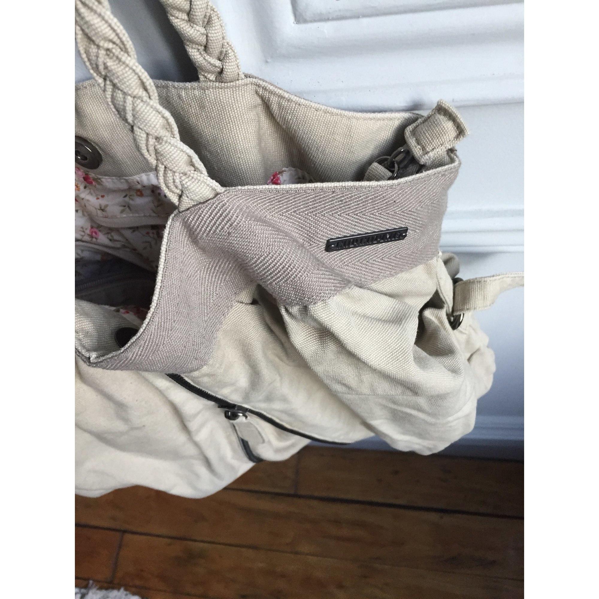 Sac à main en tissu COP-COPINE coton beige