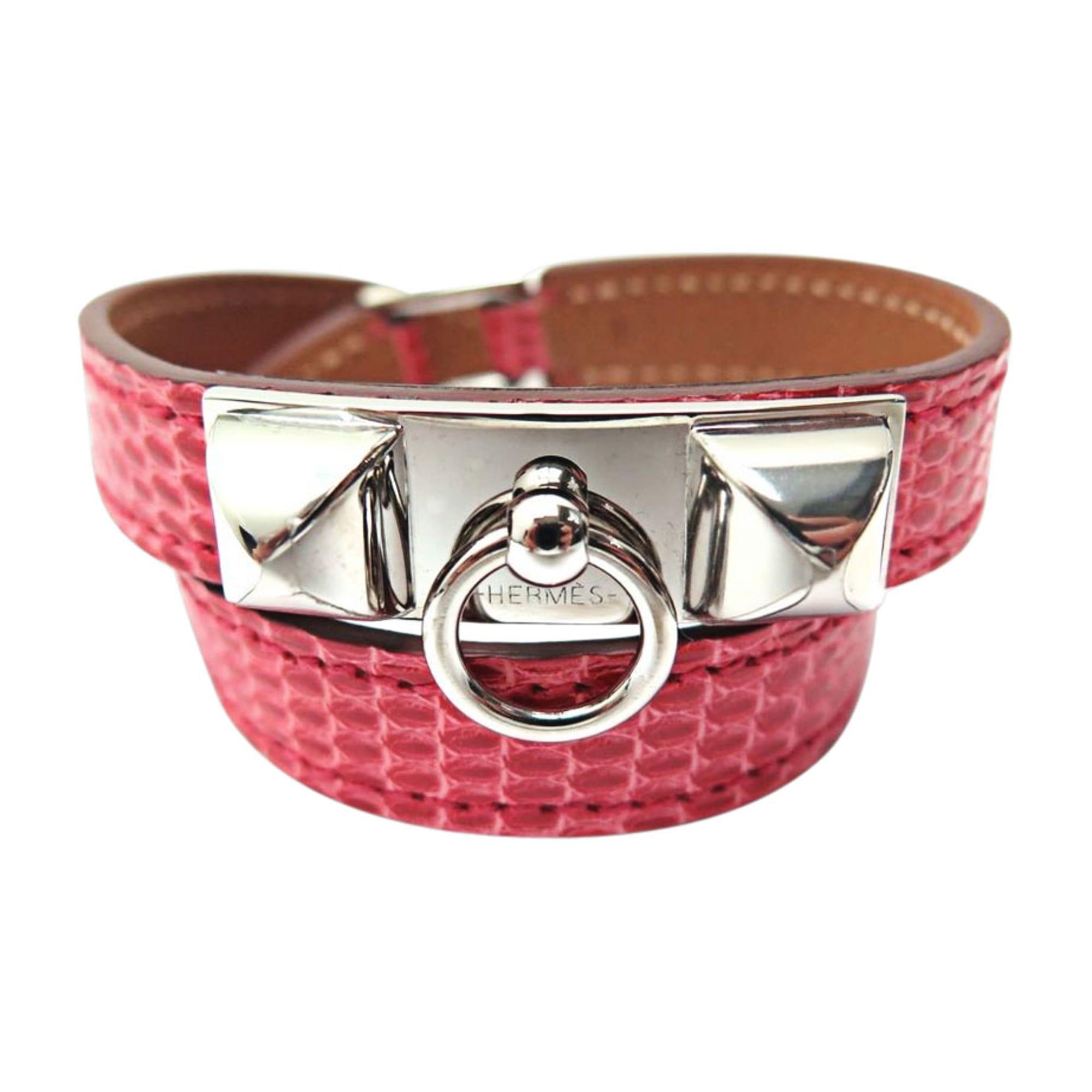 Bracelet HERMÈS Rivale Rose, fuschia, vieux rose