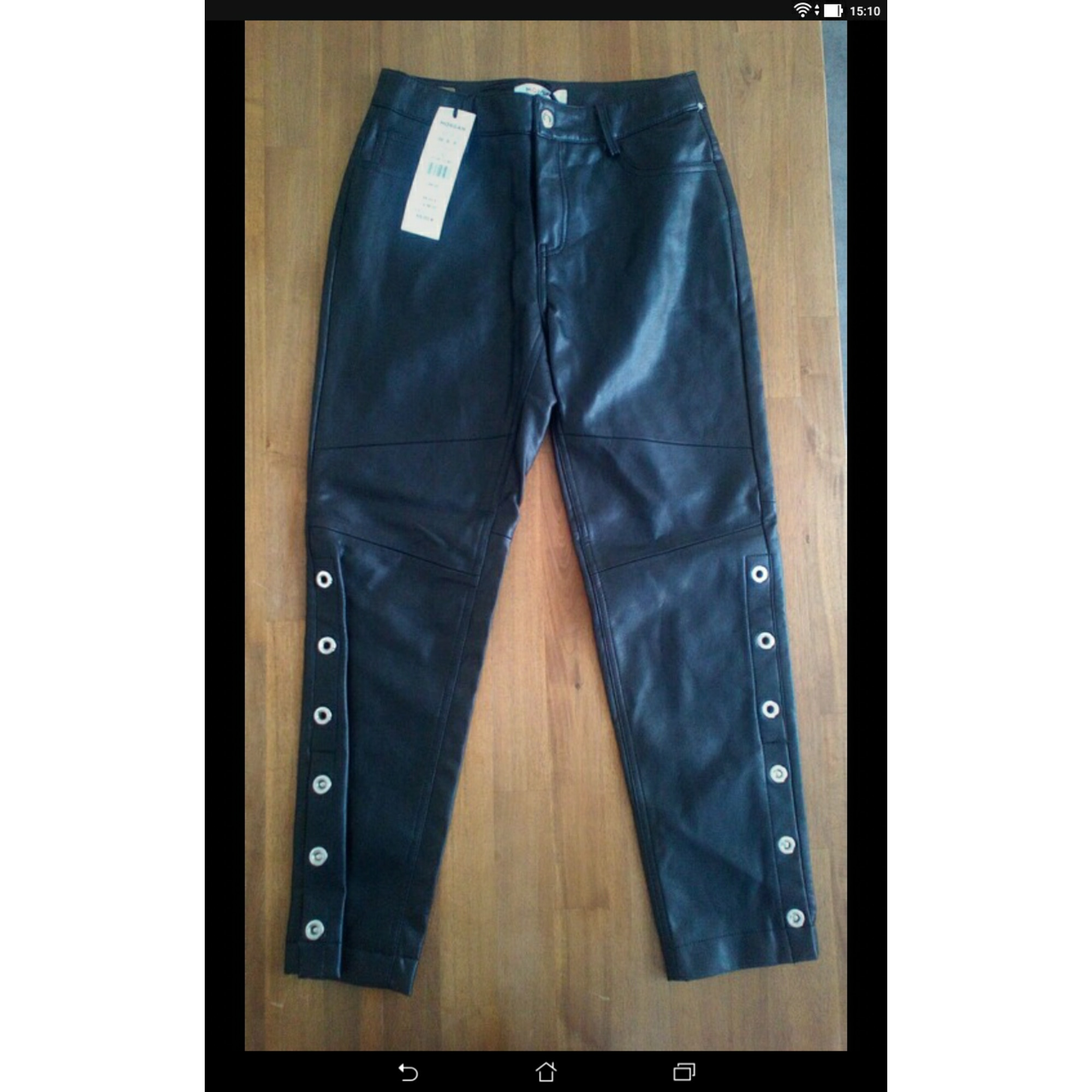 Pantalon droit MORGAN Noir