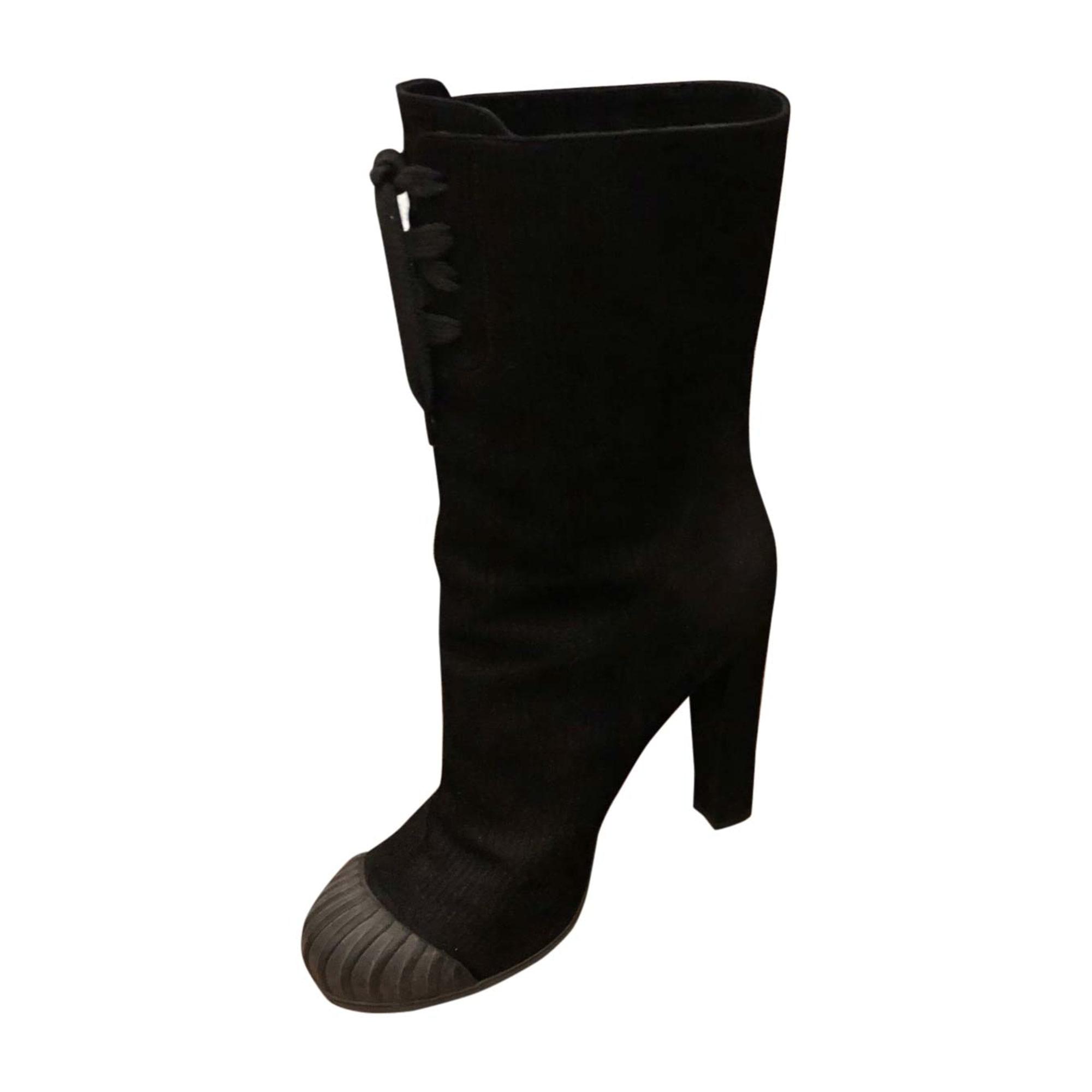 Bottines & low boots à talons FENDI Noir