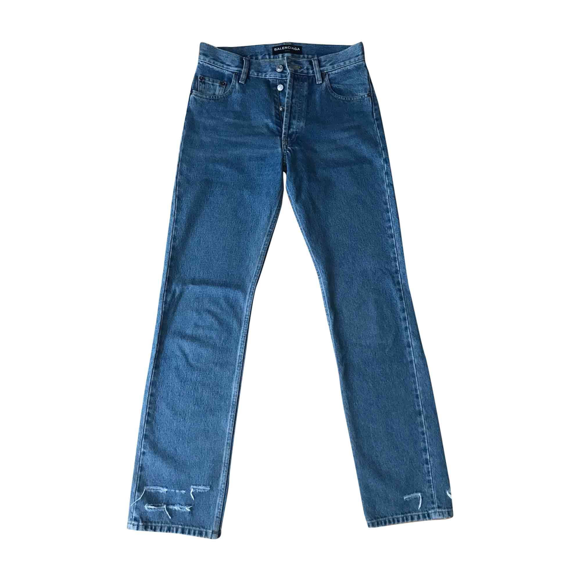Jeans droit BALENCIAGA Bleu, bleu marine, bleu turquoise