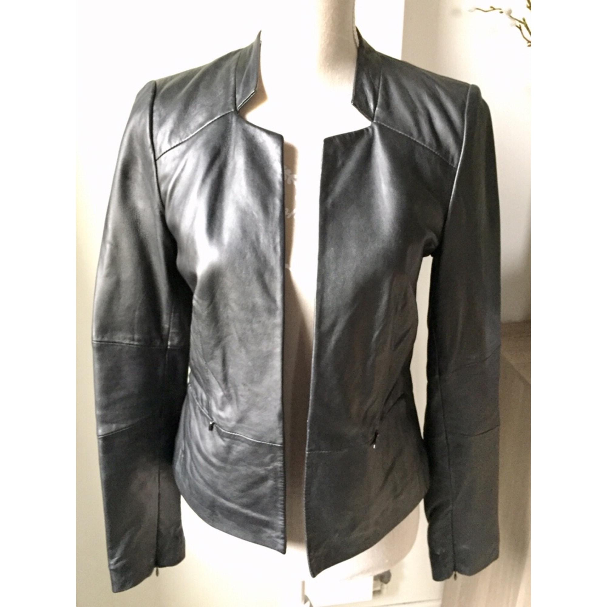 Veste en cuir CAROLL 38 (M, T2) noir - 8336180 69167a2781a