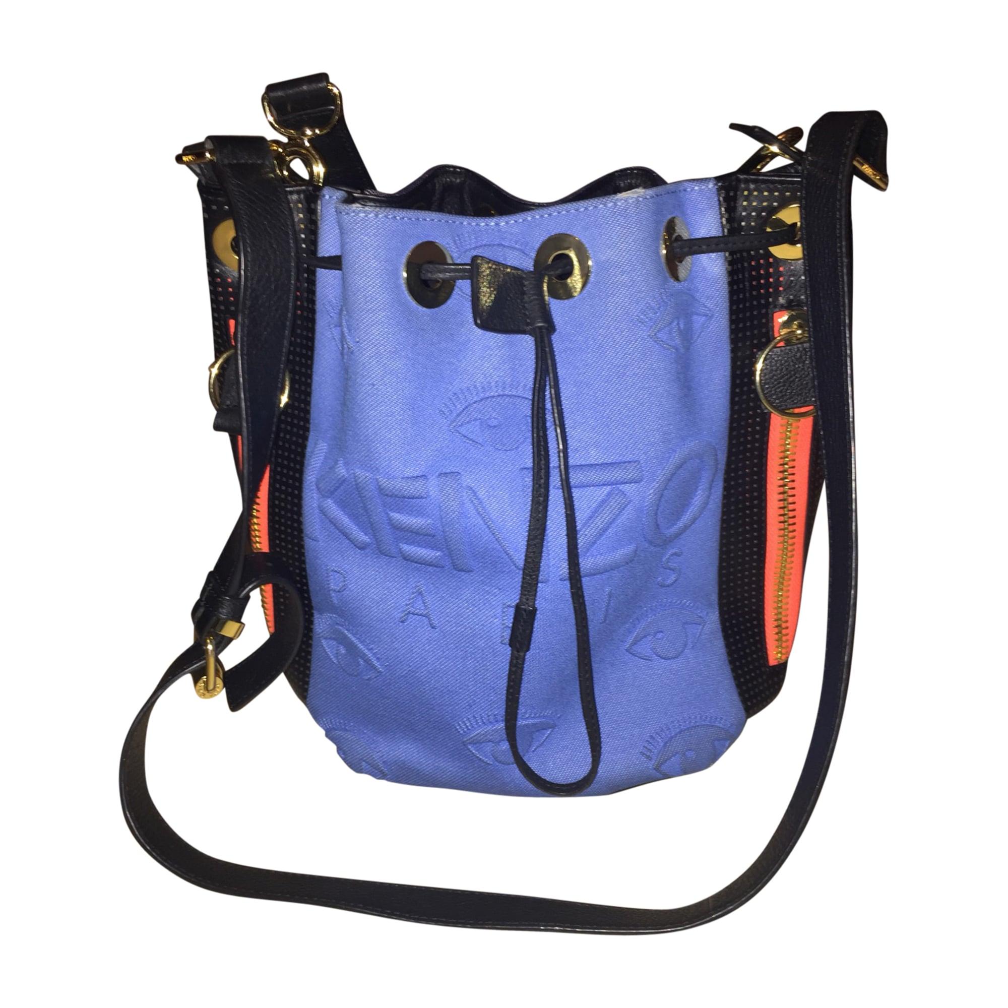 Non-Leather Handbag KENZO Blue, navy, turquoise