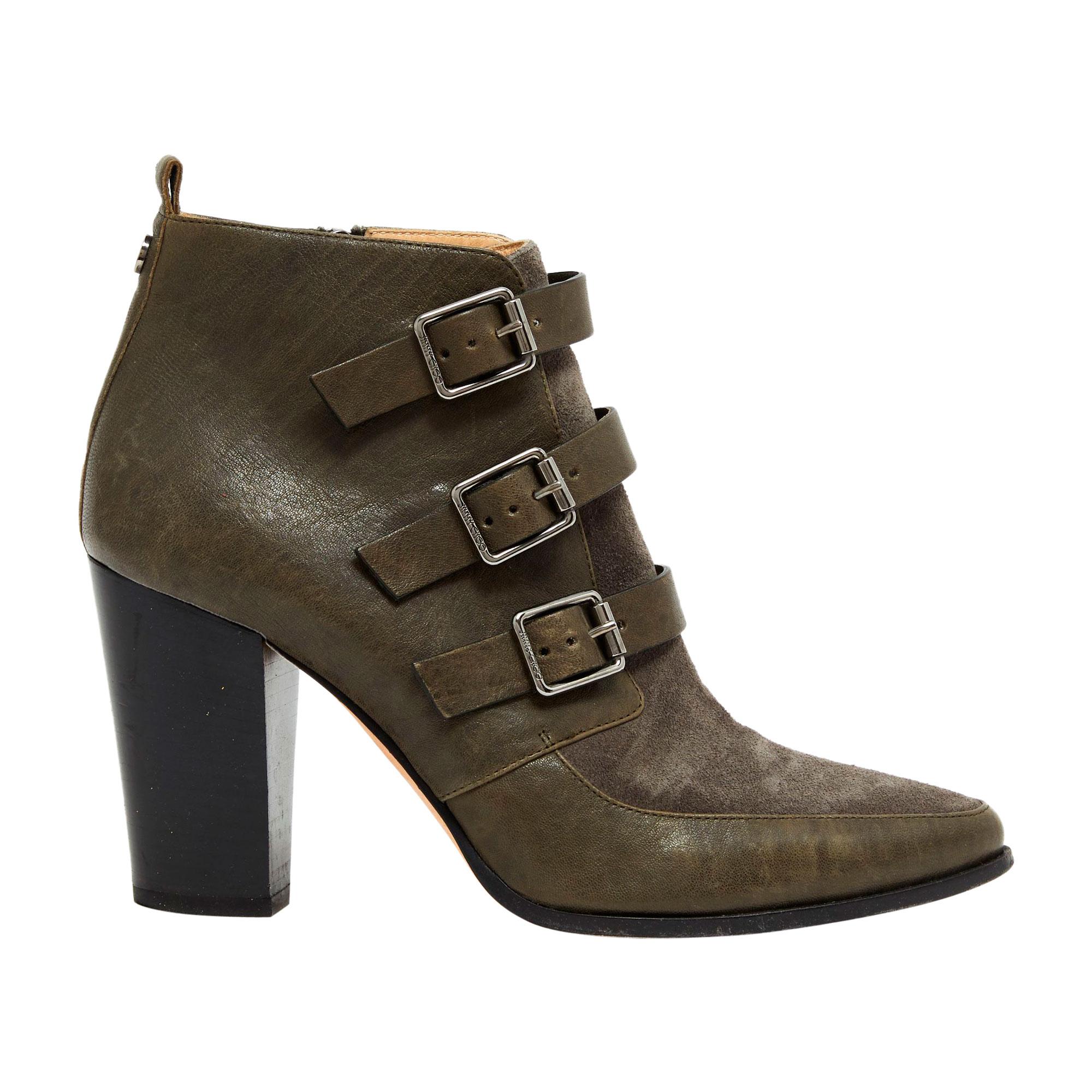Bottines & low boots à talons JIMMY CHOO Gris, anthracite