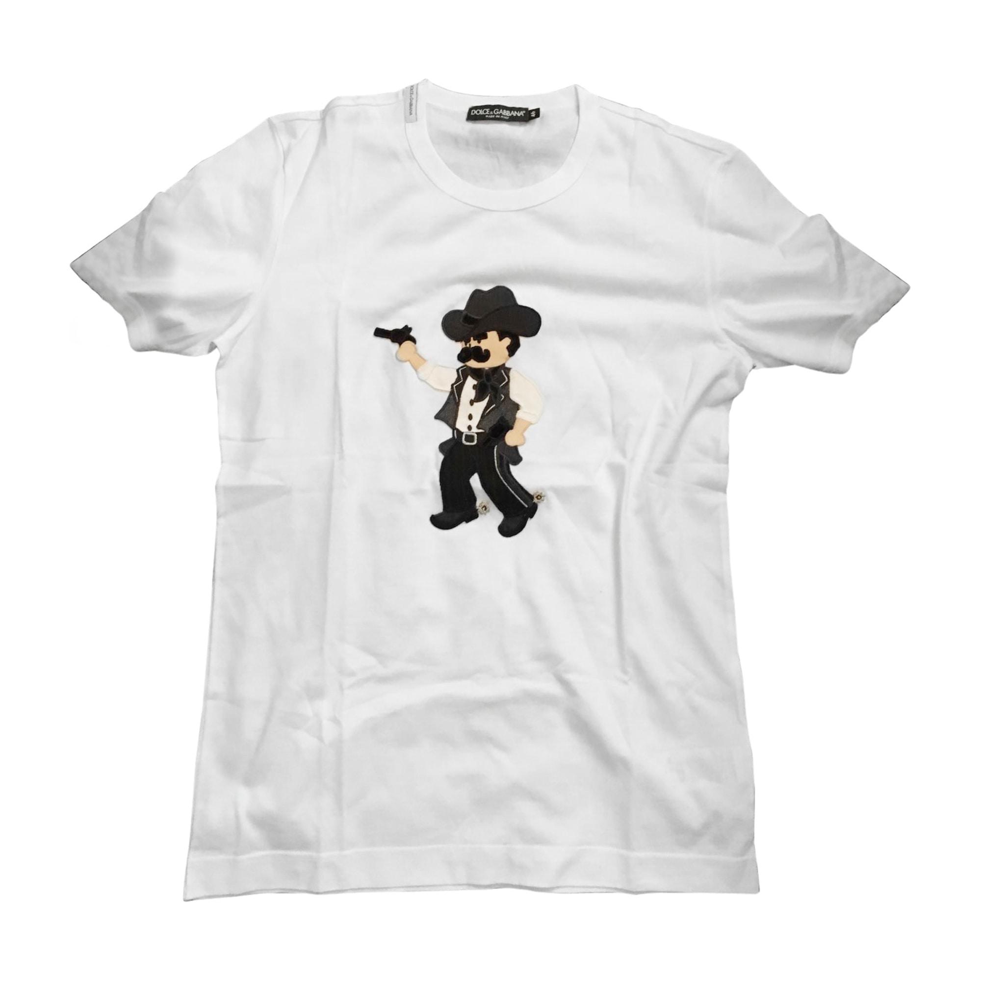 Tee-shirt DOLCE & GABBANA Blanc, blanc cassé, écru
