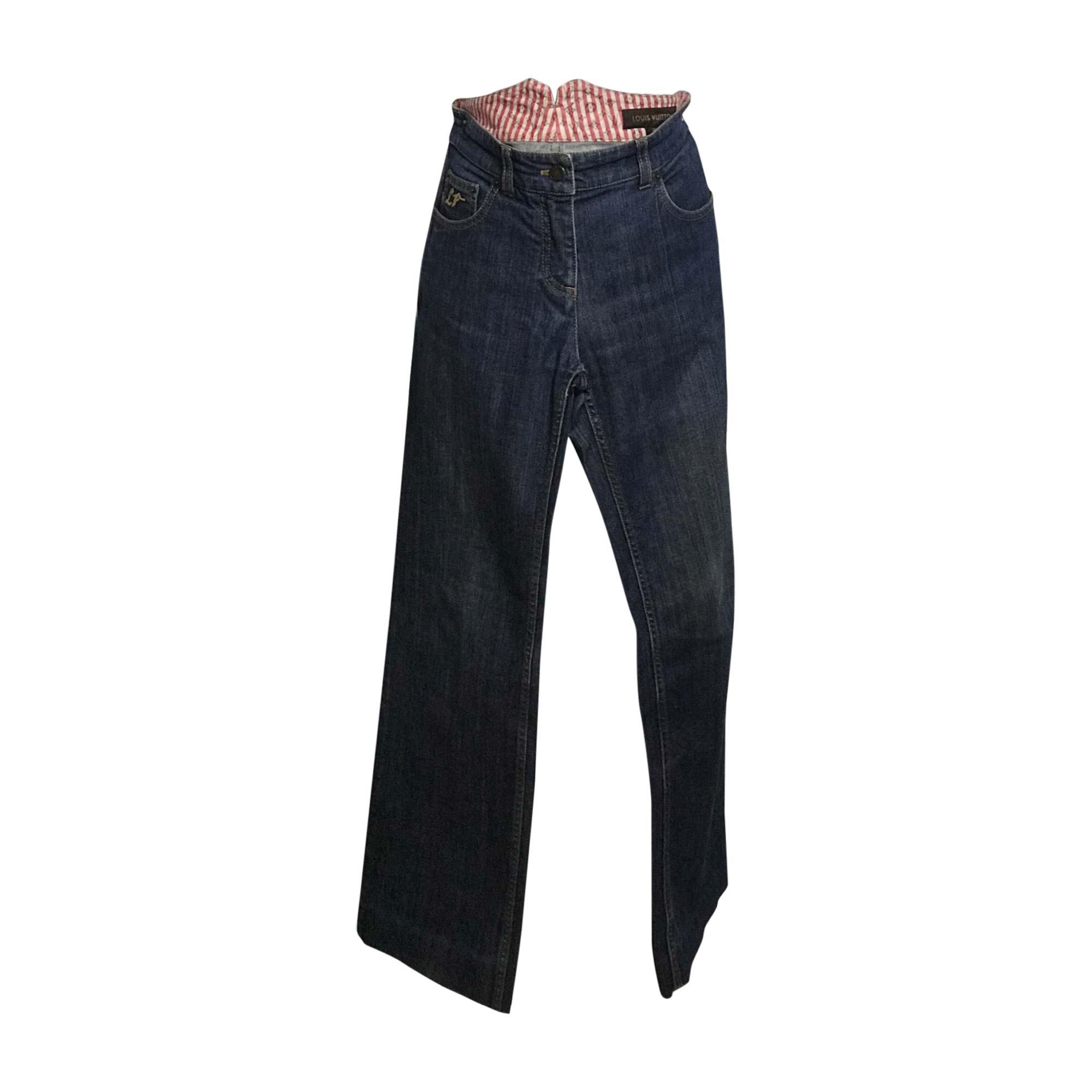 Jeans droit LOUIS VUITTON Bleu, bleu marine, bleu turquoise