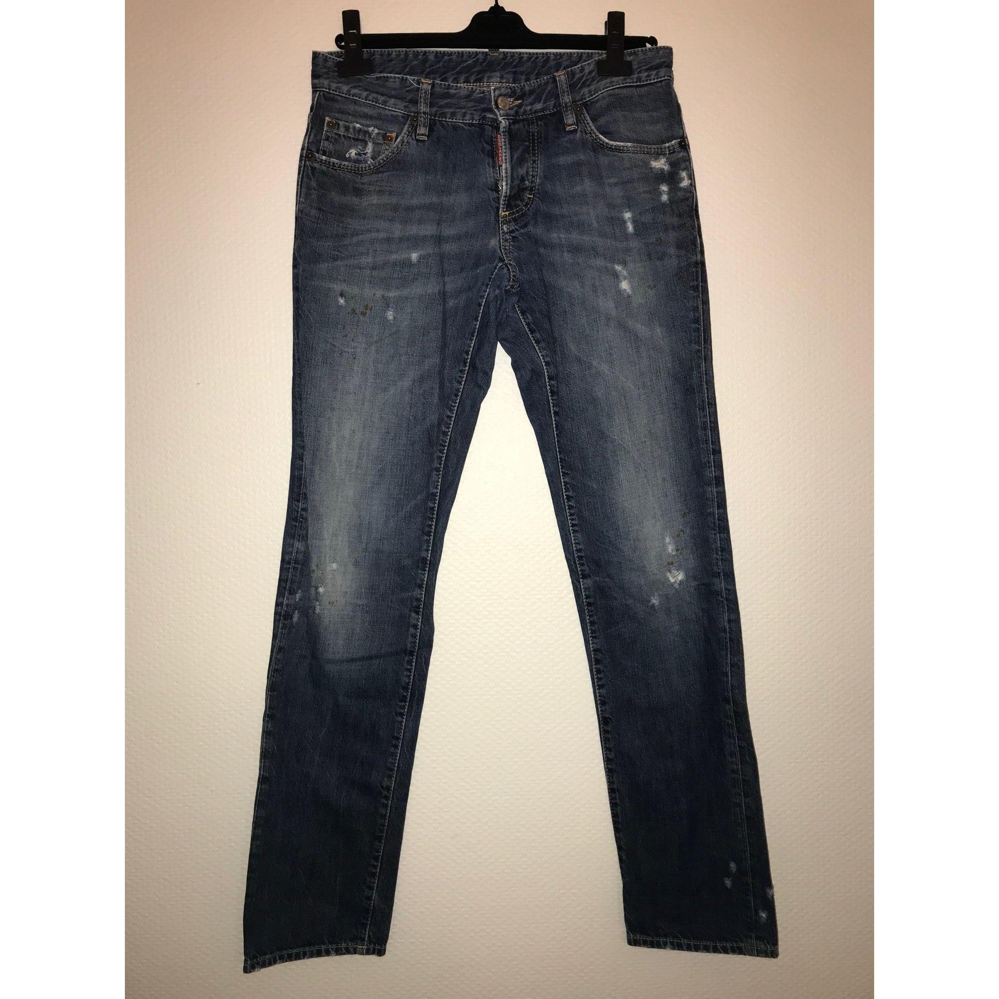 Jeans droit DSQUARED2 Bleu, bleu marine, bleu turquoise