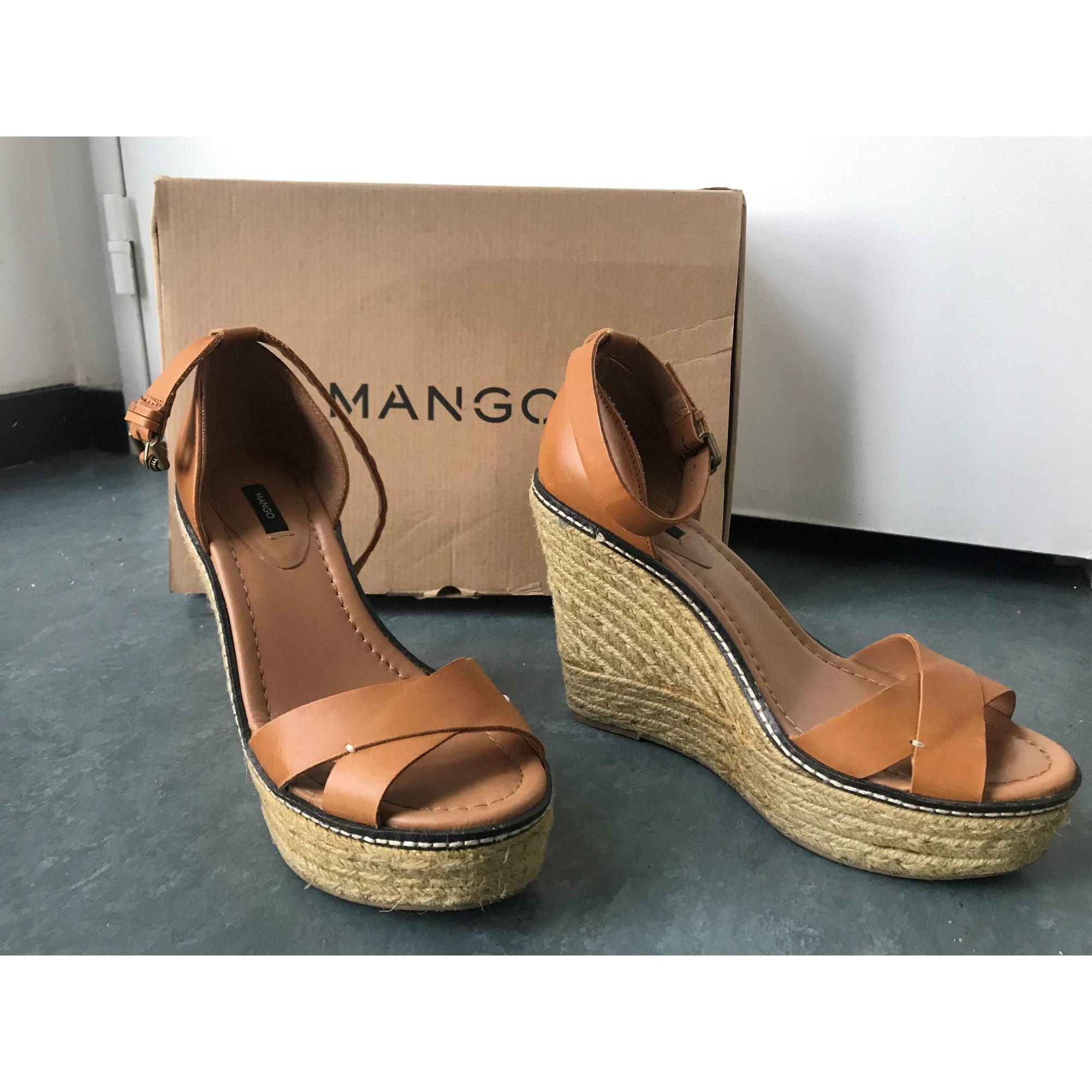 596b55752a696b Sandales compensées MANGO 39 beige - 8363037