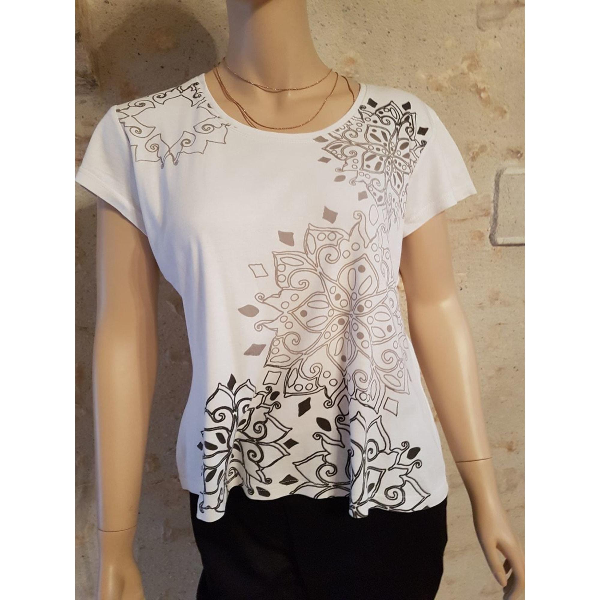 Top, tee-shirt MEXX Blanc, blanc cassé, écru