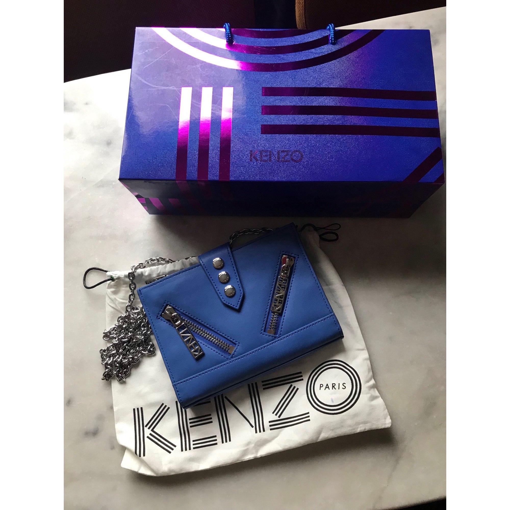 Sac En Bandoulière 8364700 Kenzo Bleu Cuir l3JcTFK1