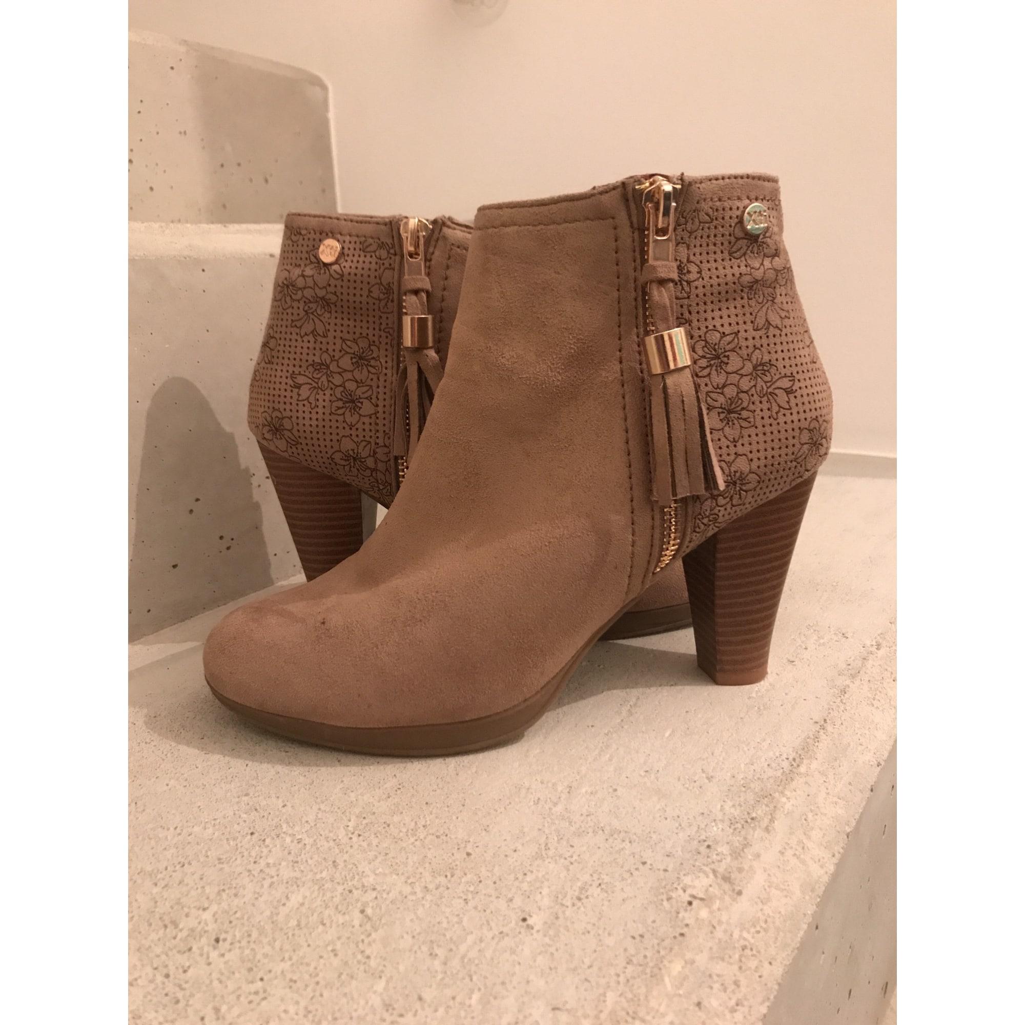13821e25fc7a Bottines & low boots à talons XTI 37 beige - 8365691