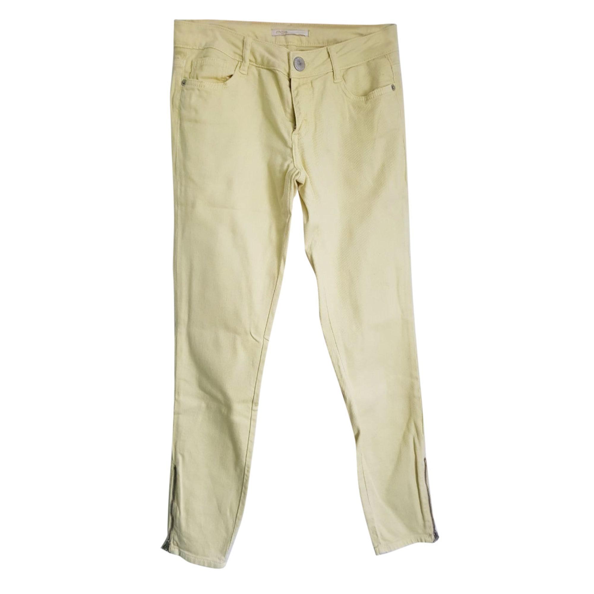 Jeans droit MAJE Jaune