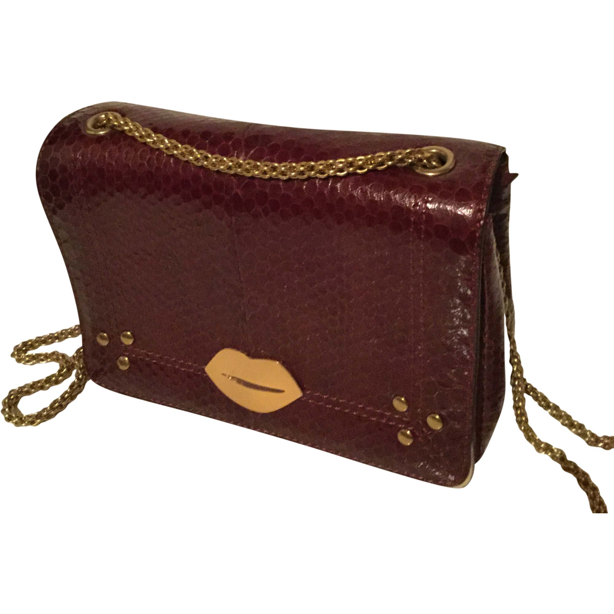 Borsa a tracolla in pelle JEROME DREYFUSS Rosso, bordeaux