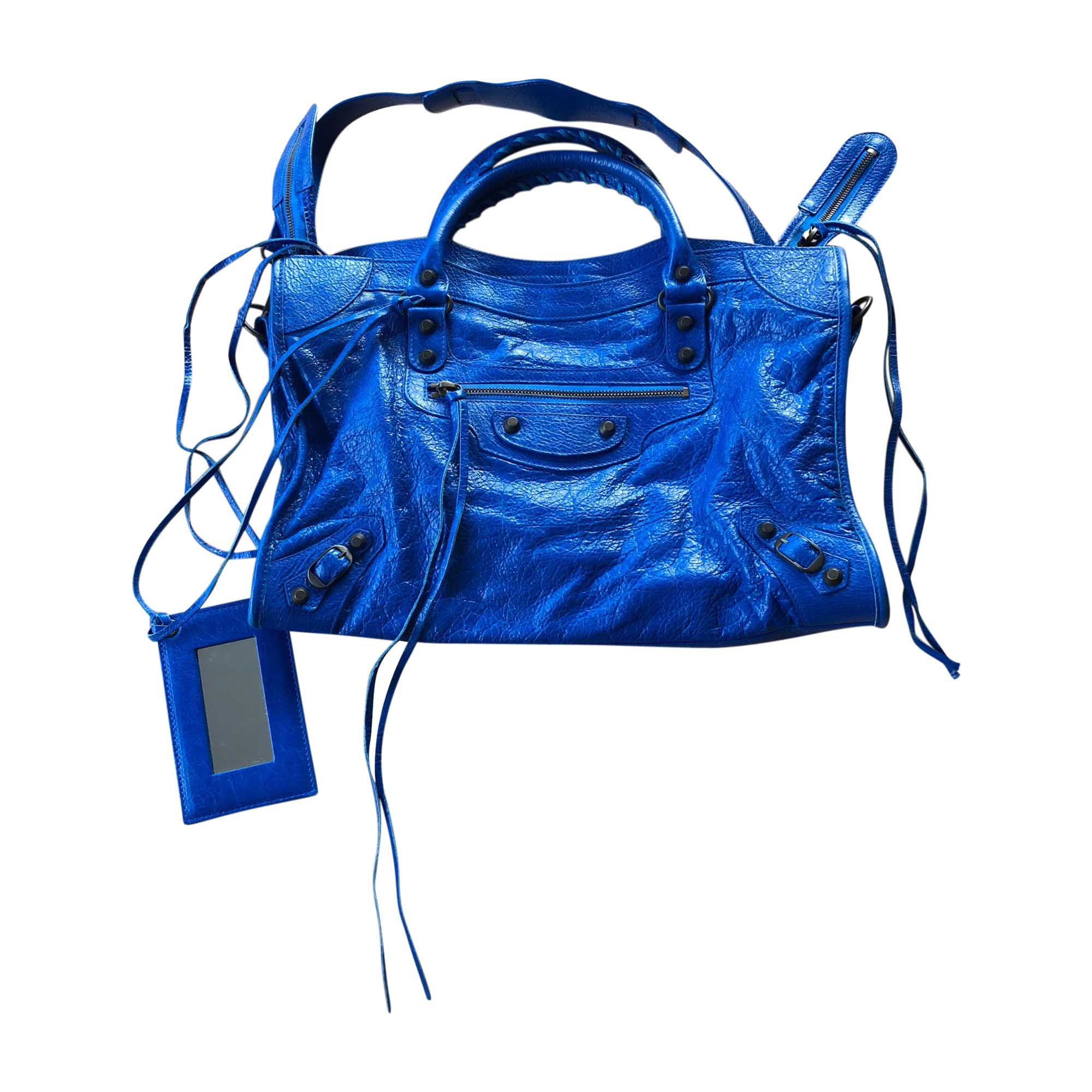 Leather Handbag BALENCIAGA City Blue, navy, turquoise