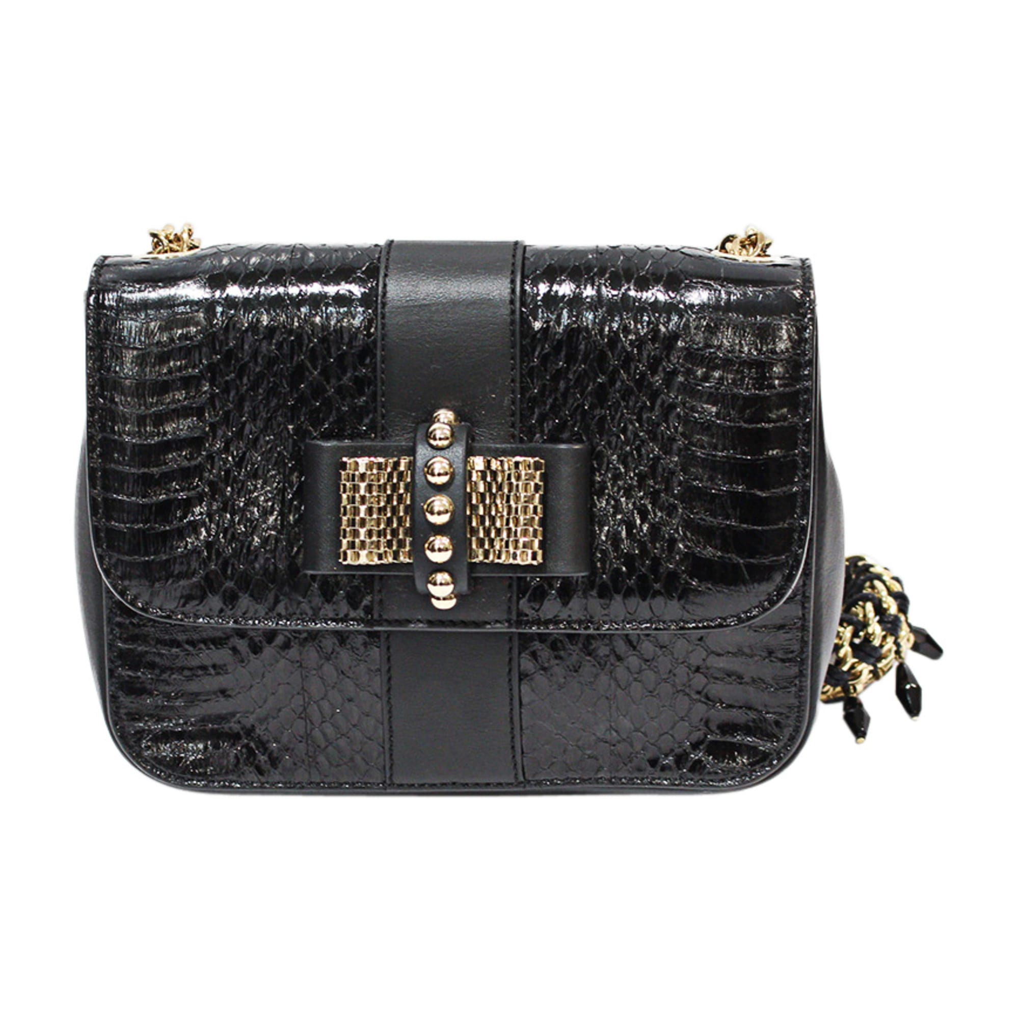 Leather Shoulder Bag CHRISTIAN LOUBOUTIN Black