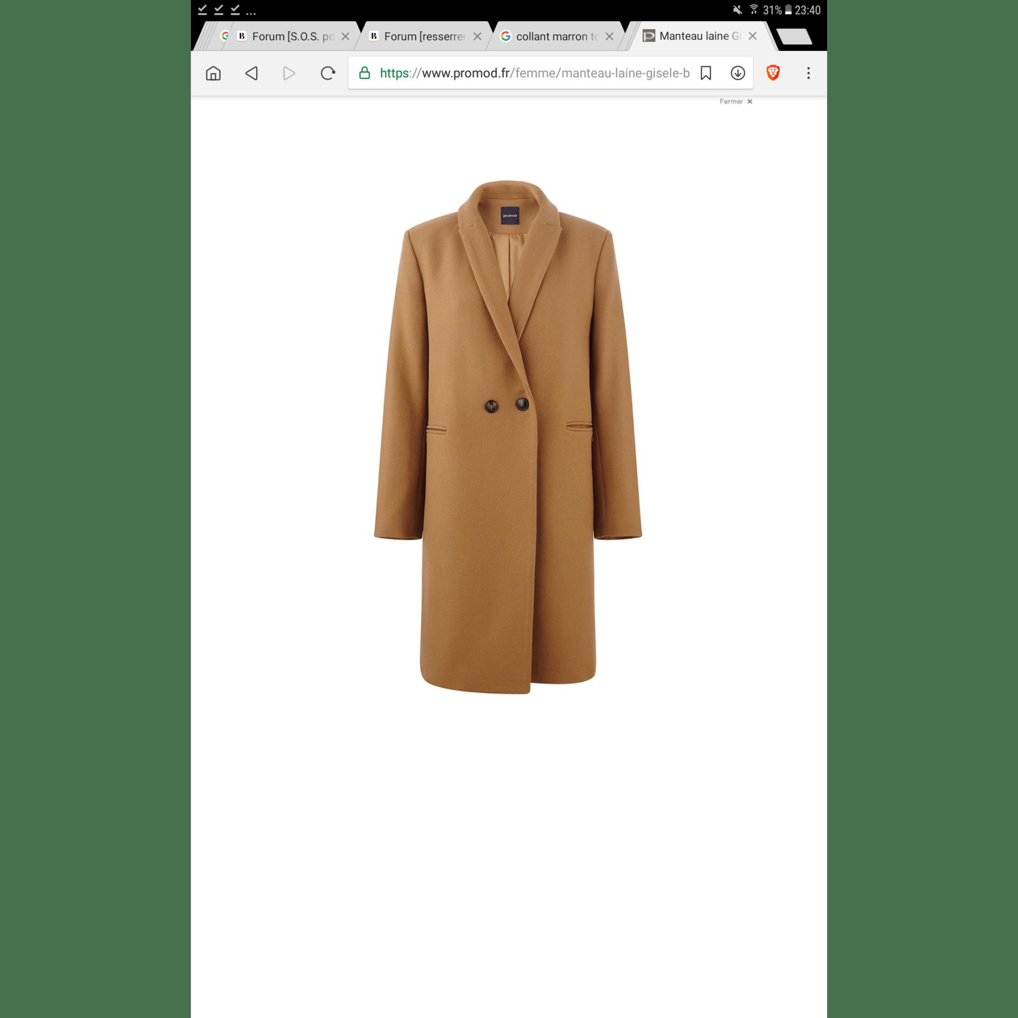 marque populaire liquidation à chaud authentique Manteau