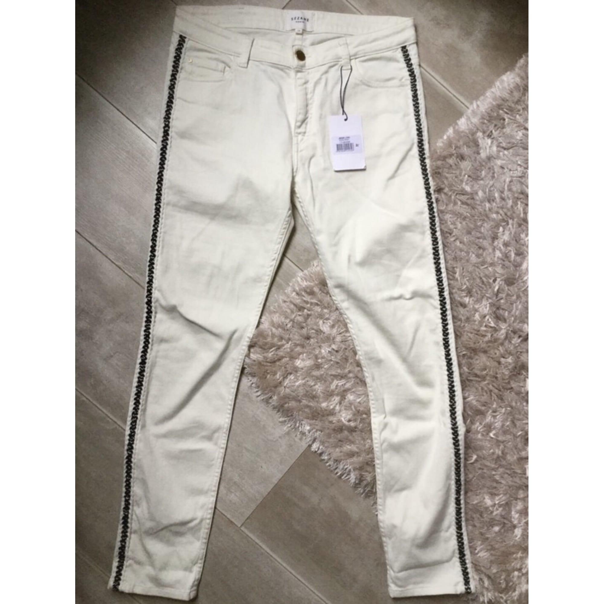 Jeans slim SÉZANE Blanc, blanc cassé, écru