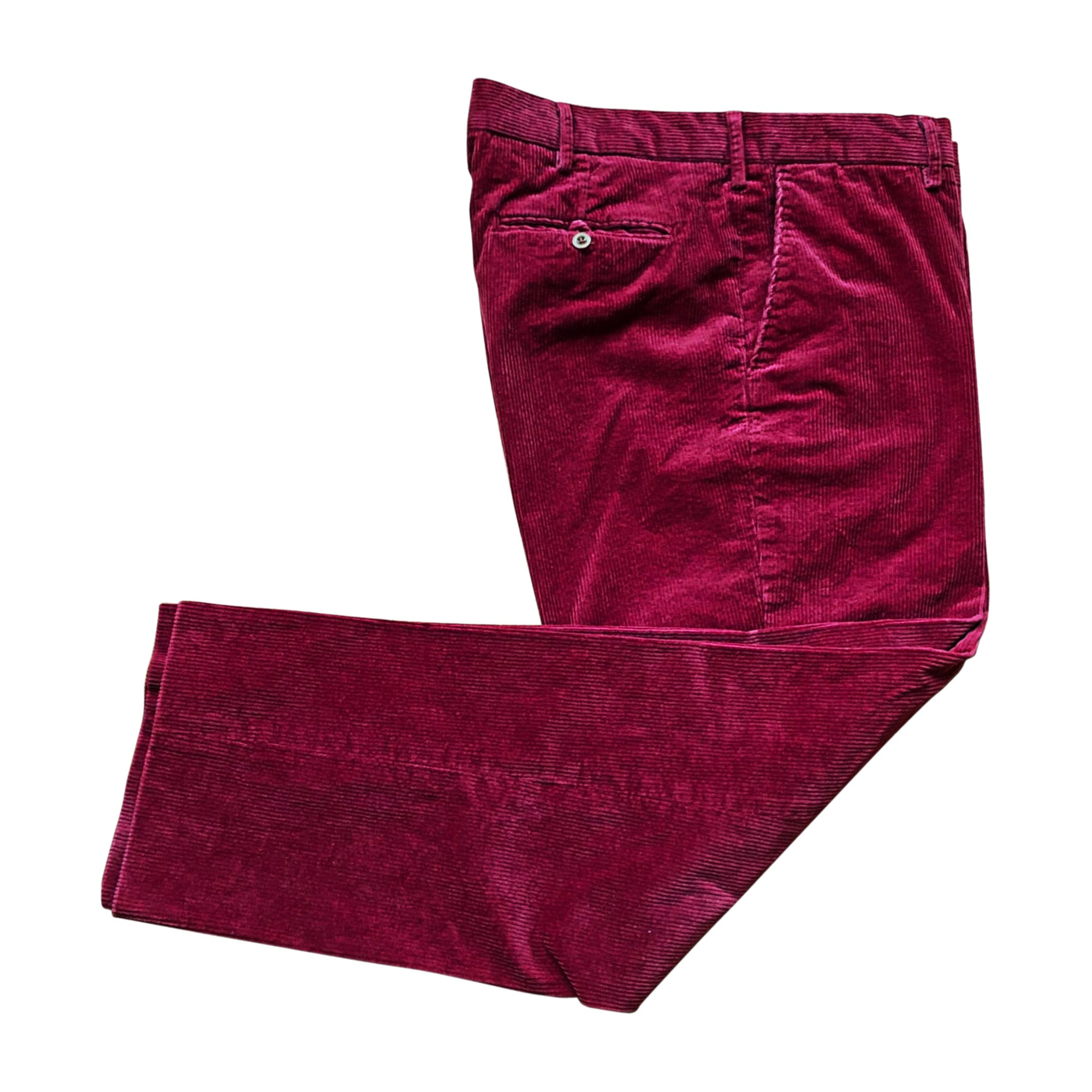 Pantalon droit RALPH LAUREN Rouge, bordeaux
