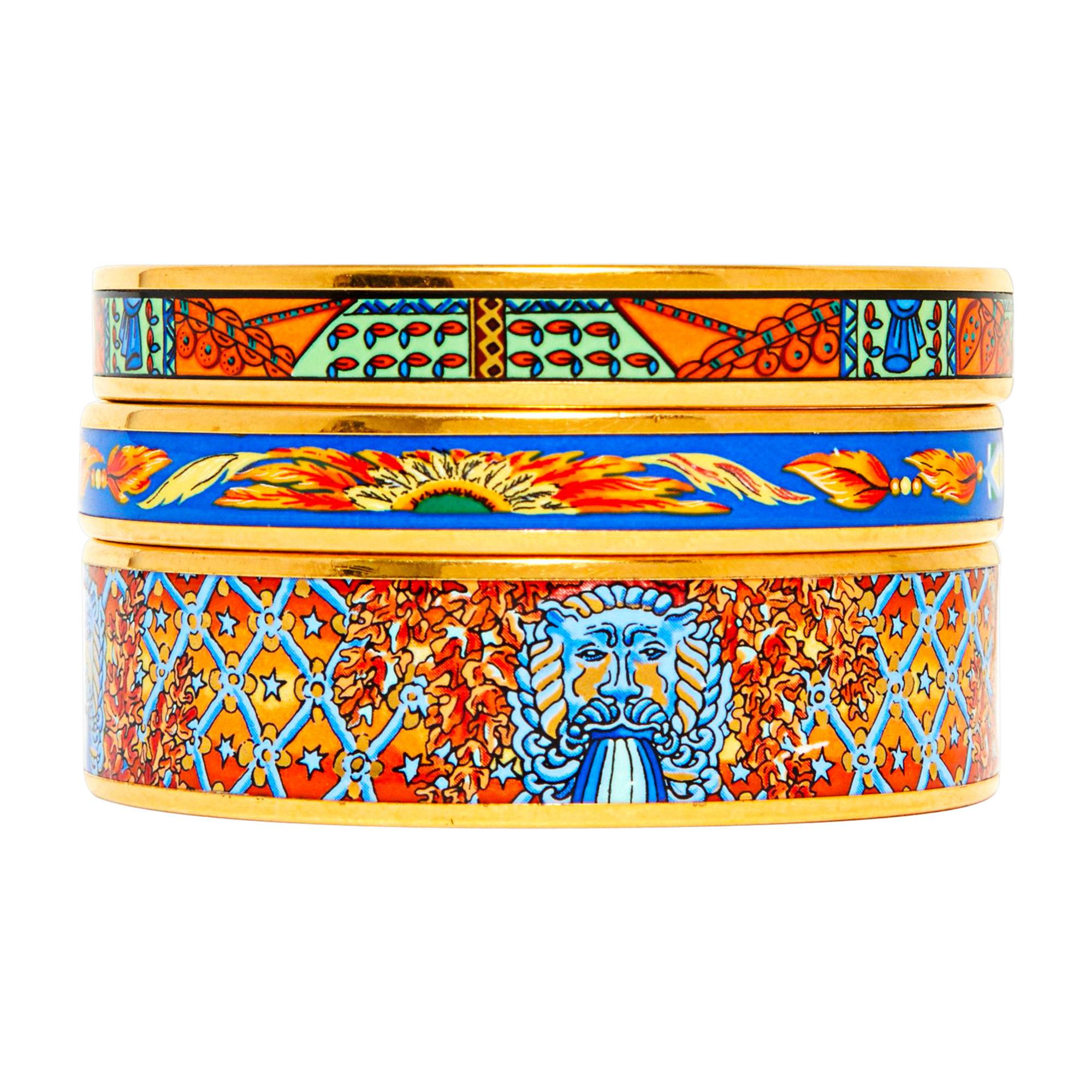 Bracelet HERMÈS Doré, bronze, cuivre 77a0773c241