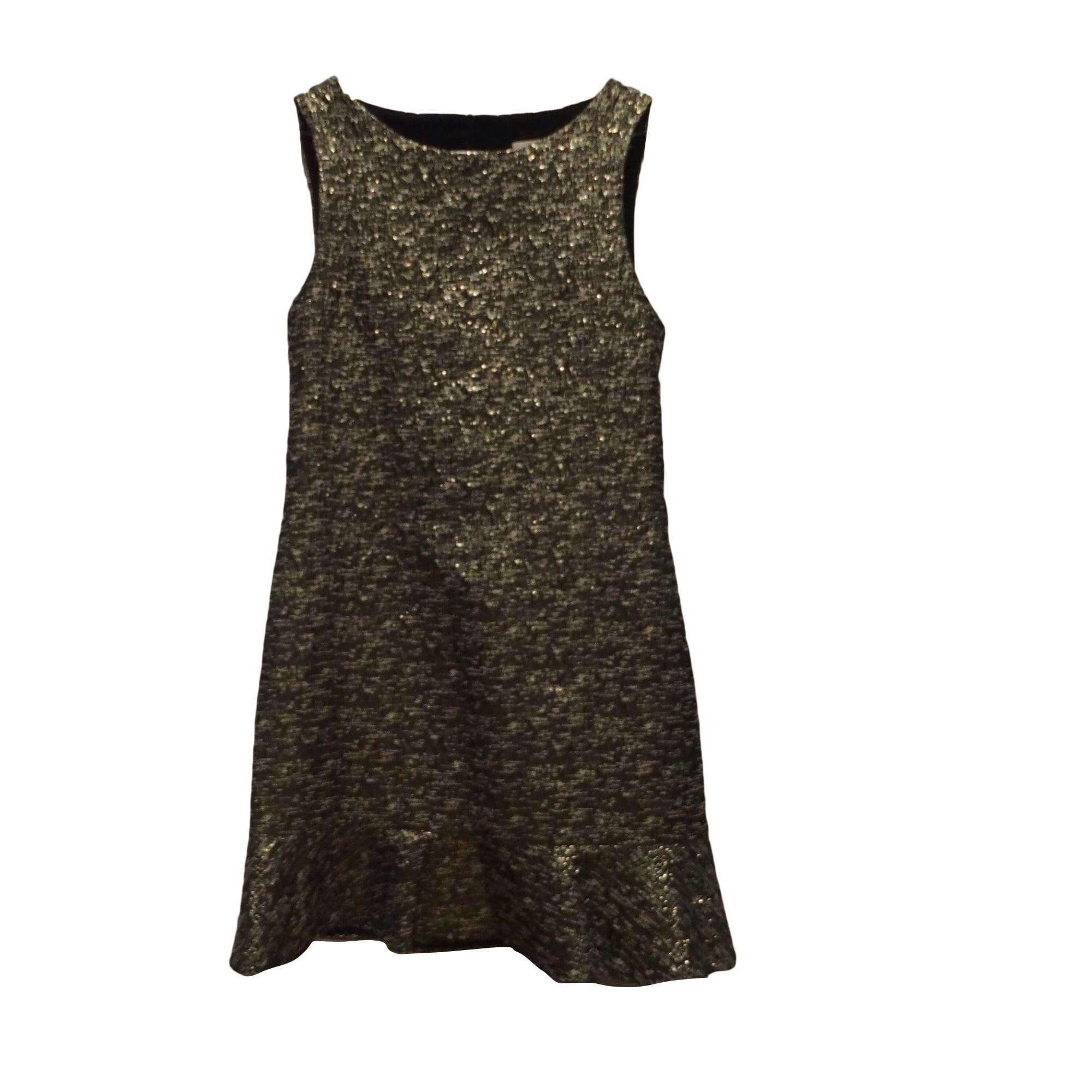 Robe courte BA&SH Doré, bronze, cuivre