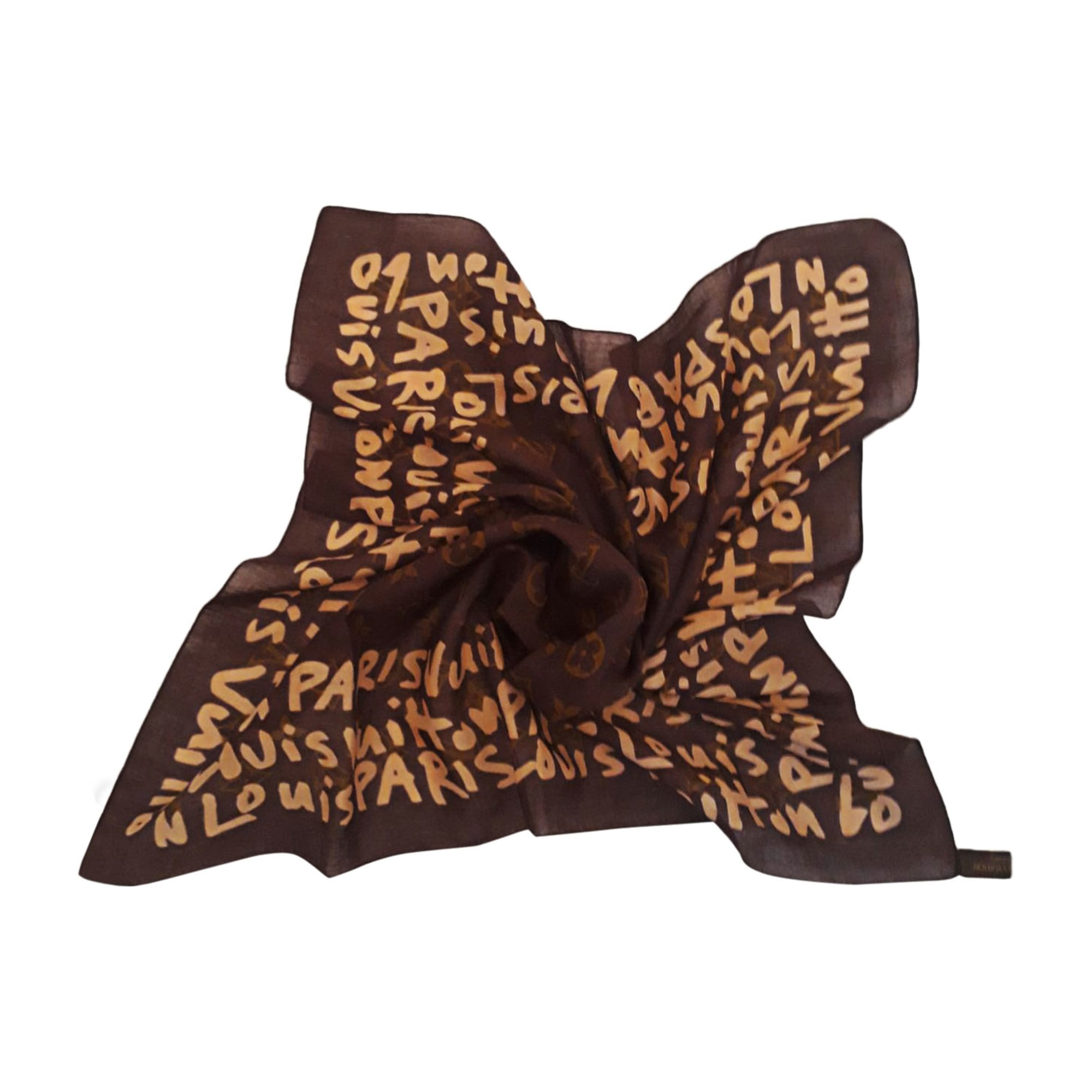Foulard LOUIS VUITTON marron - 8381532 4f92900be97