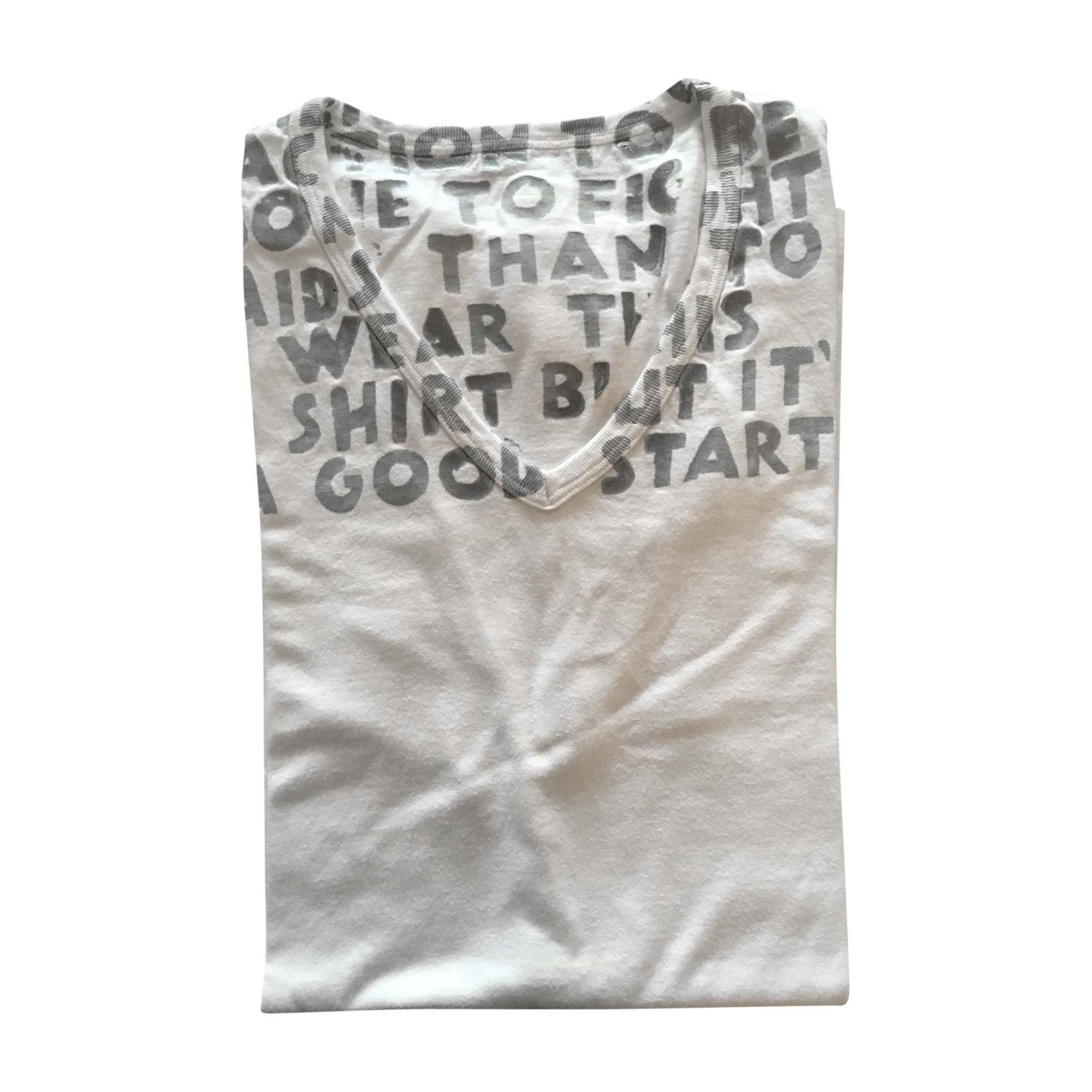 Tee-shirt MAISON MARTIN MARGIELA Blanc, blanc cassé, écru