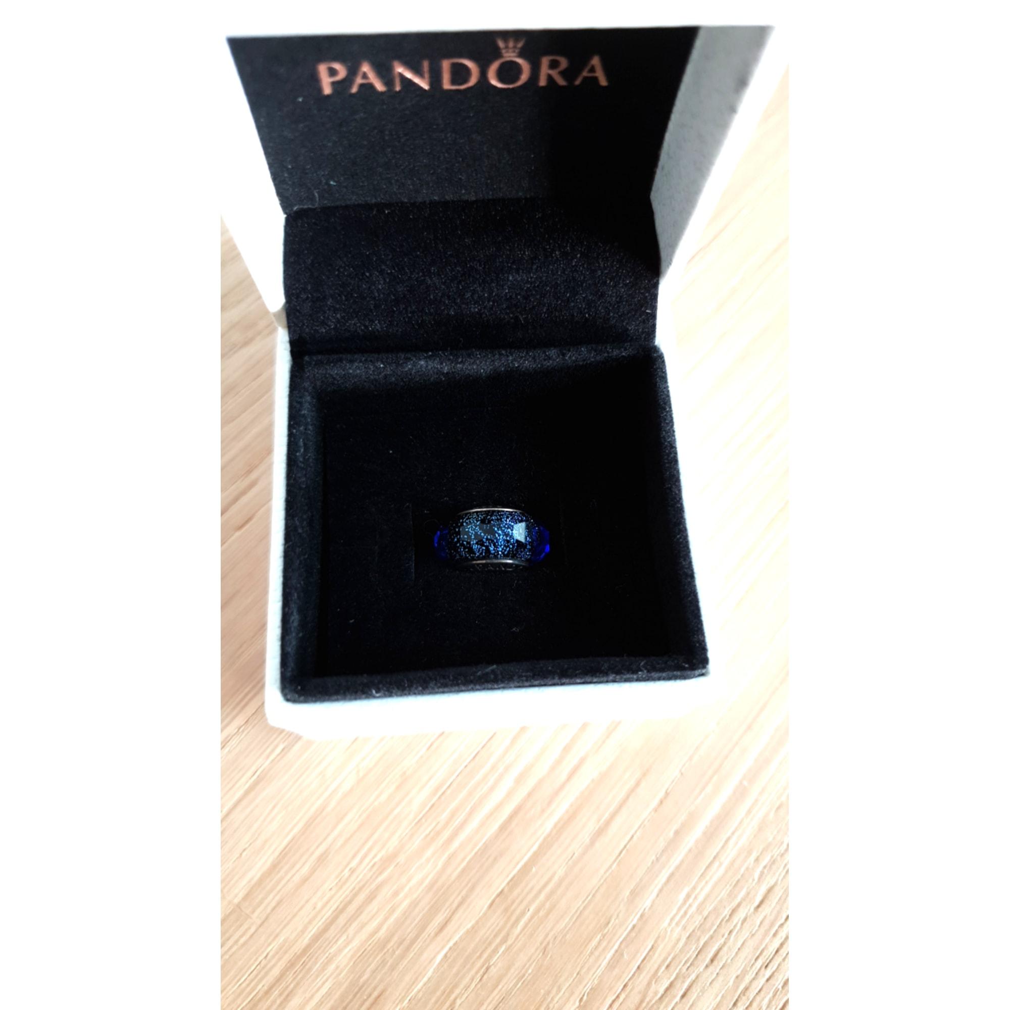 pandora murano bleu iridescent
