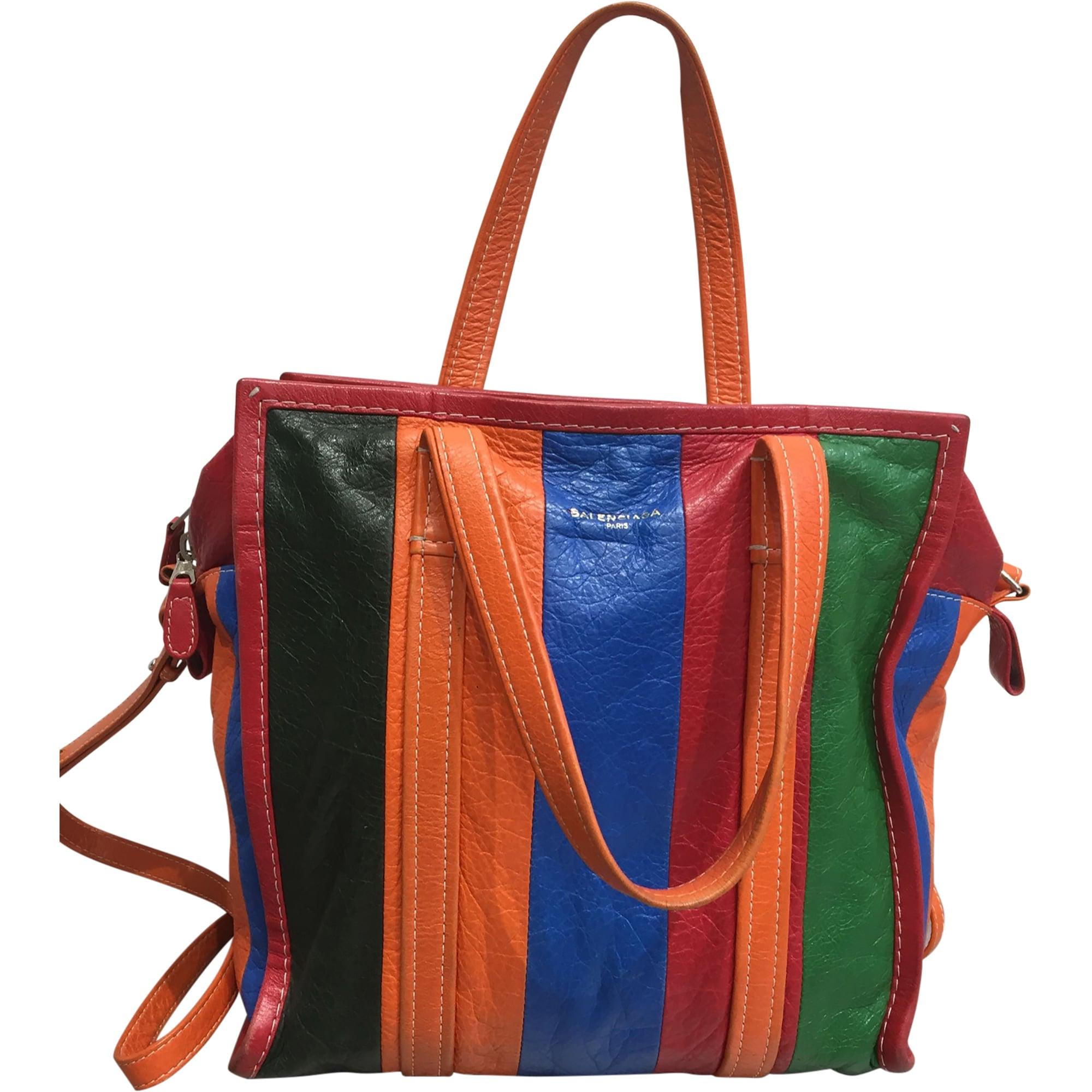 Leather Shoulder Bag BALENCIAGA Bazar Multicolor
