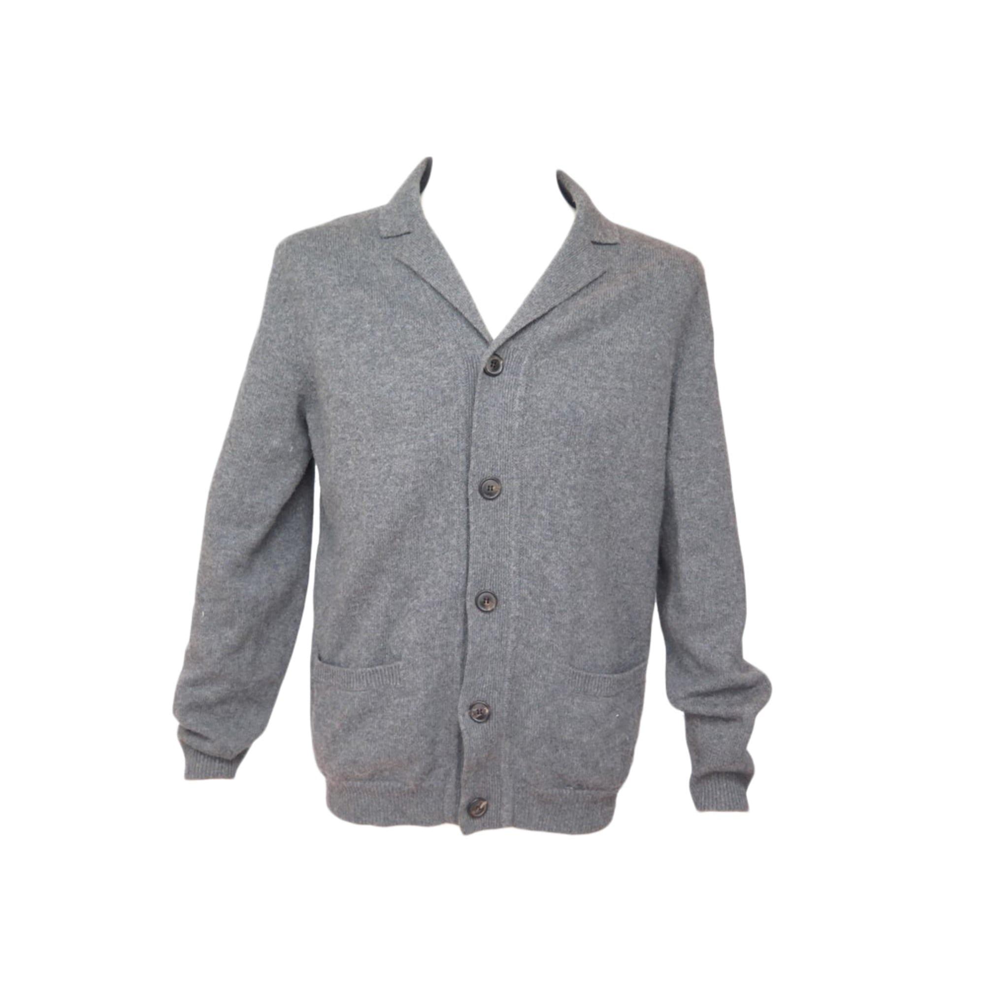 Vest, Cardigan ERIC BOMPARD Gray, charcoal