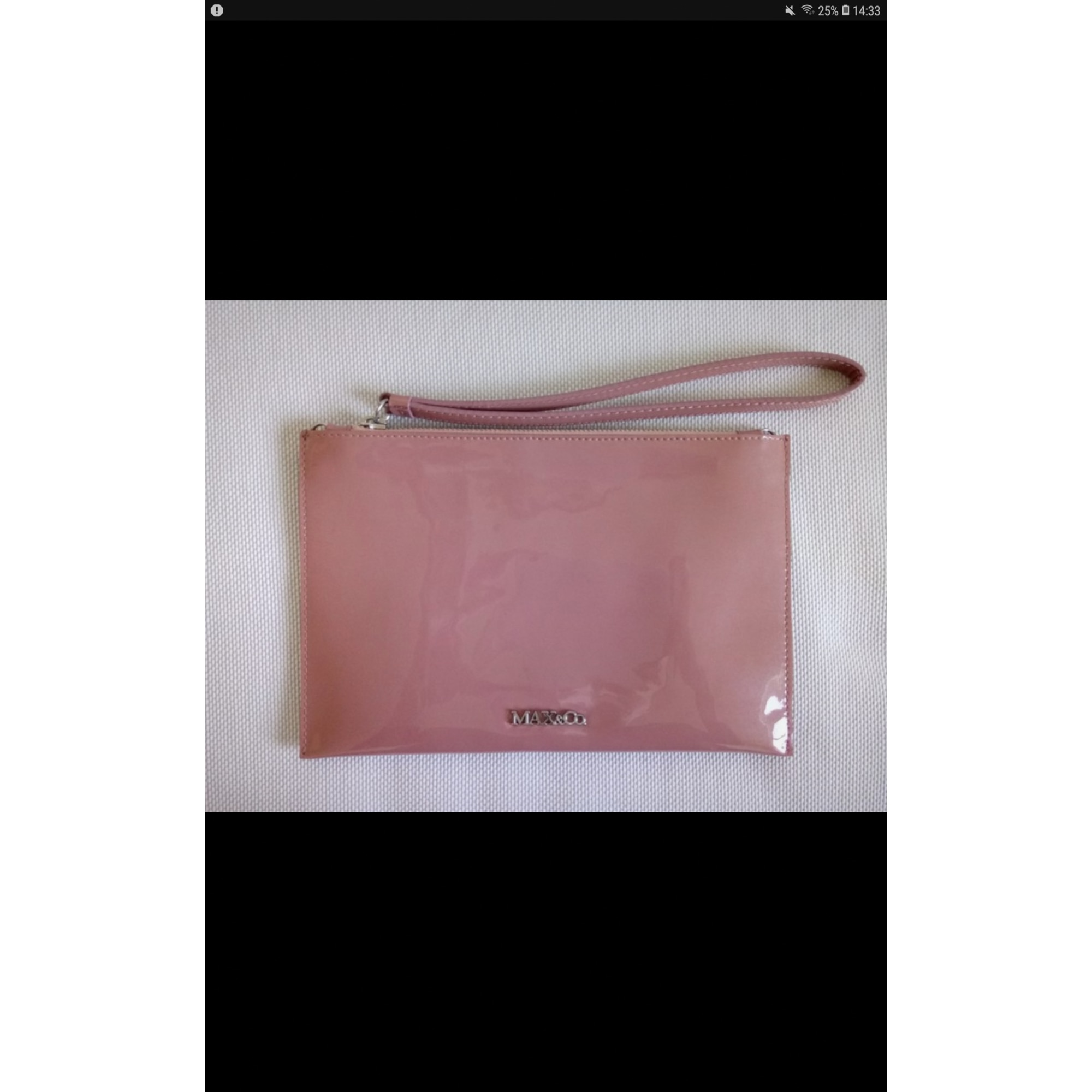 Pochette MAX & CO synthétique rose