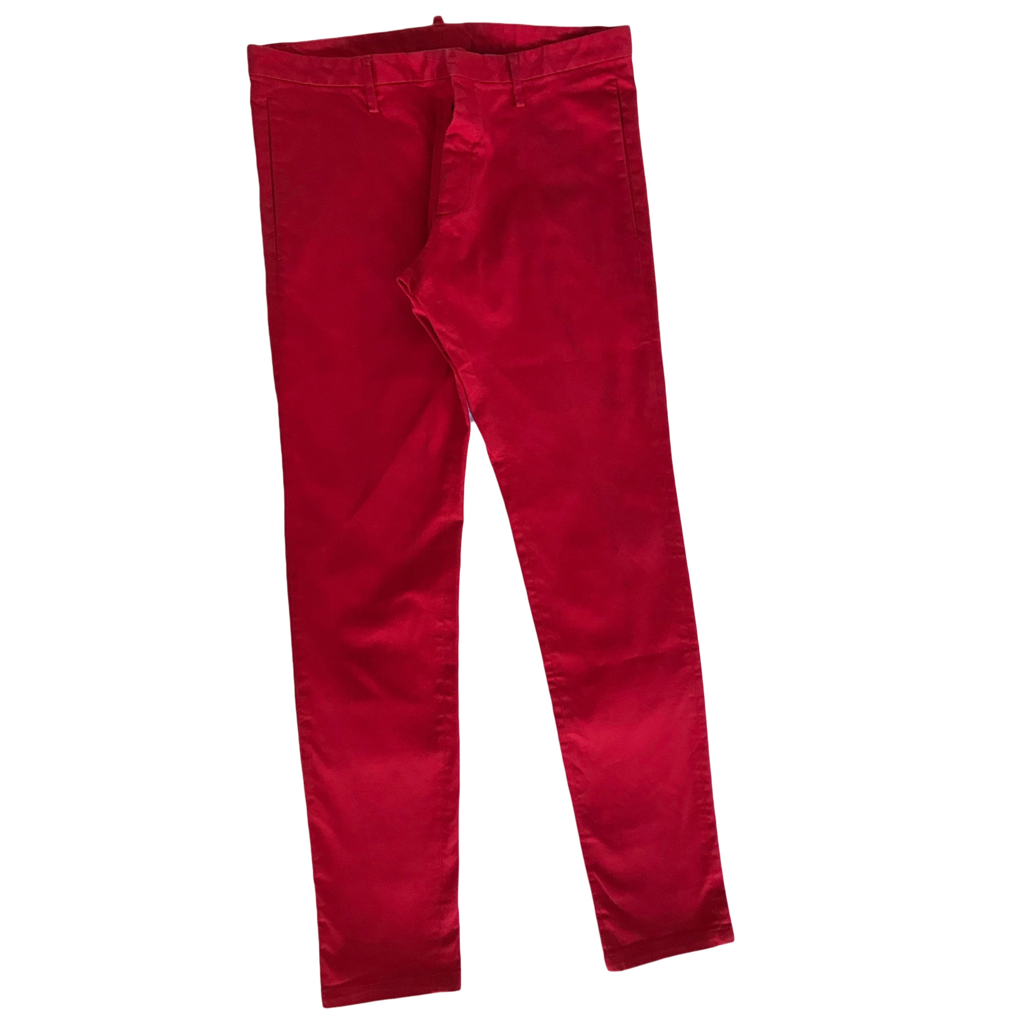 Skinny Jeans DSQUARED2 Red, burgundy