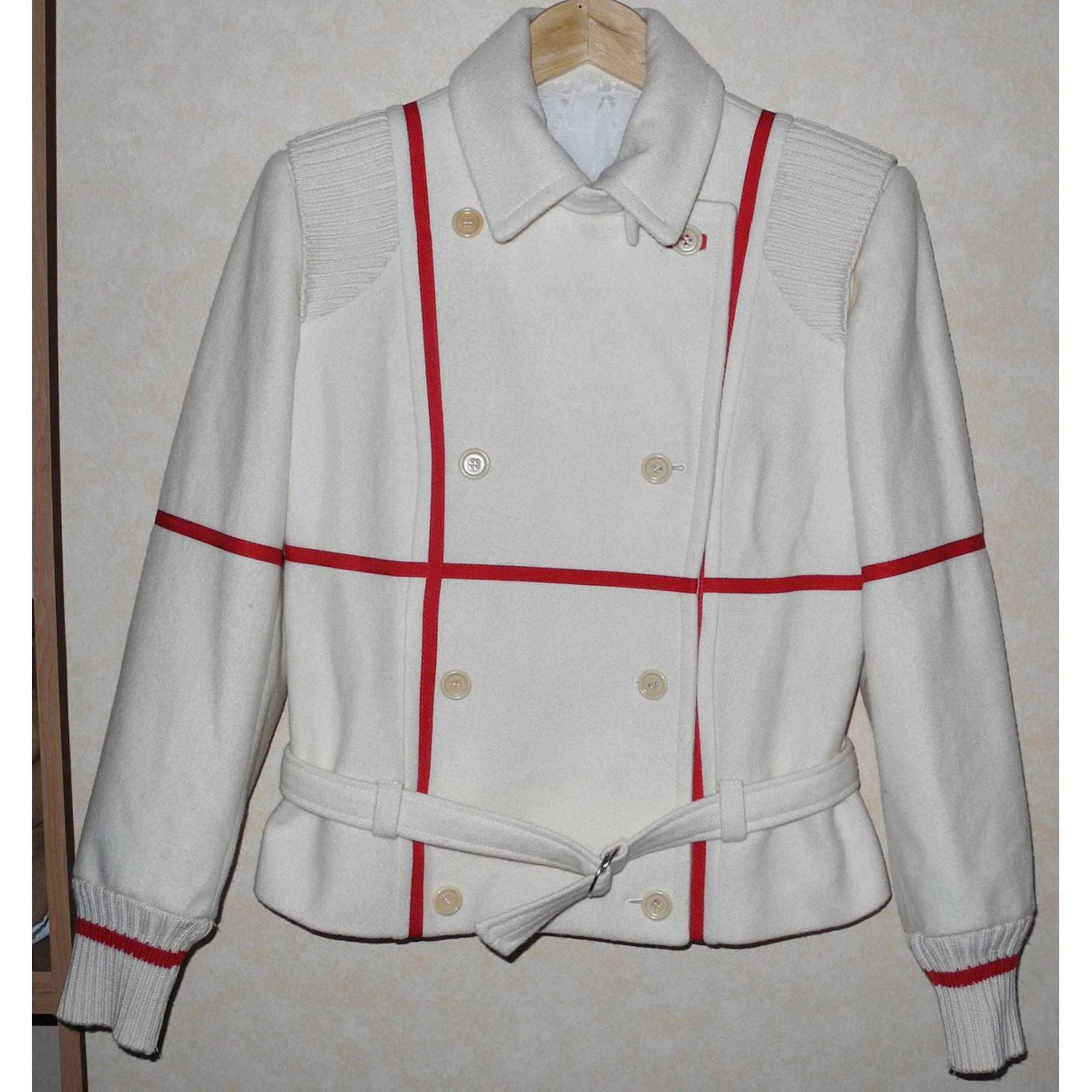 Tailleur jupe JC DE CASTELBAJAC Blanc, blanc cassé, écru