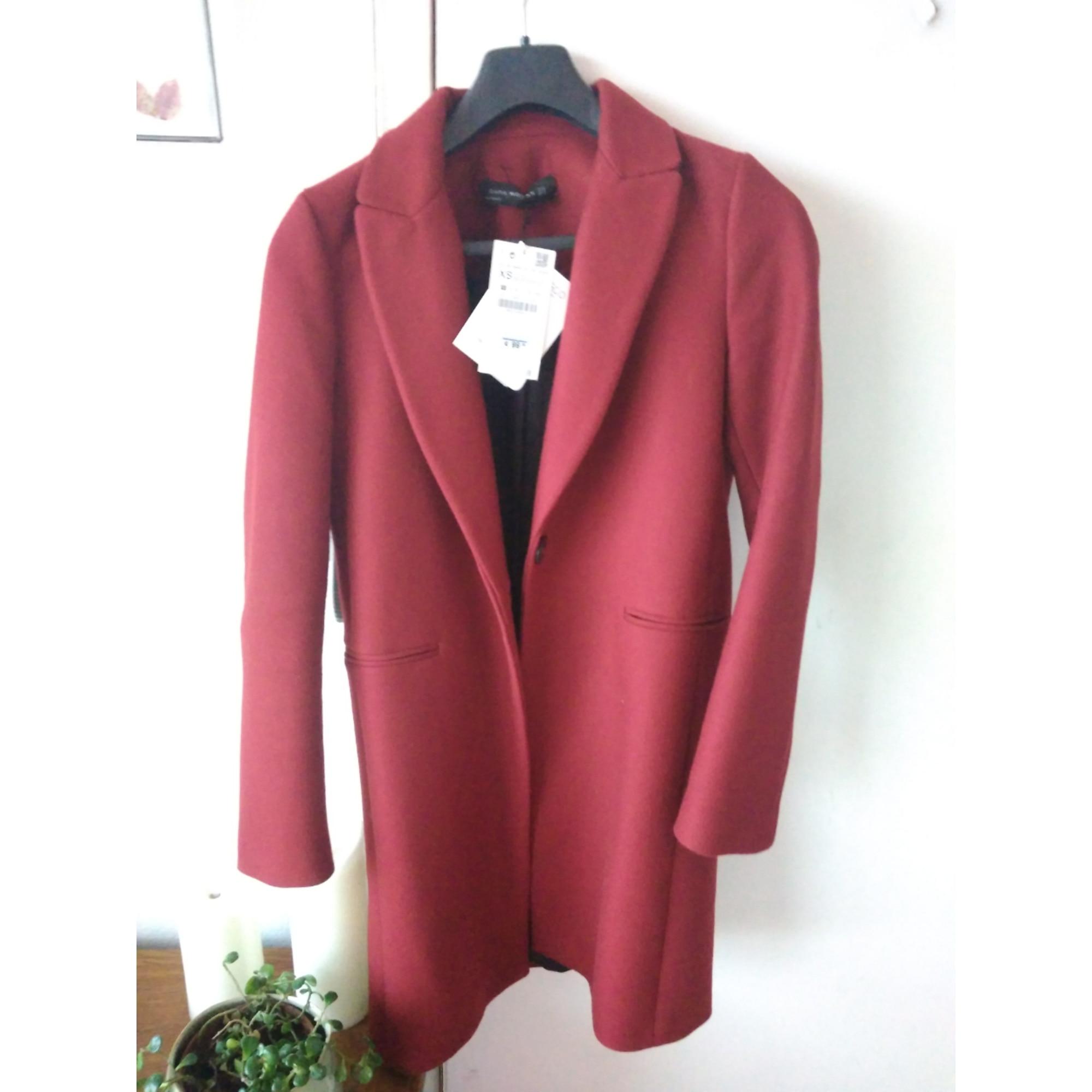 zara en femme manteau laine bordeau CedBroxW
