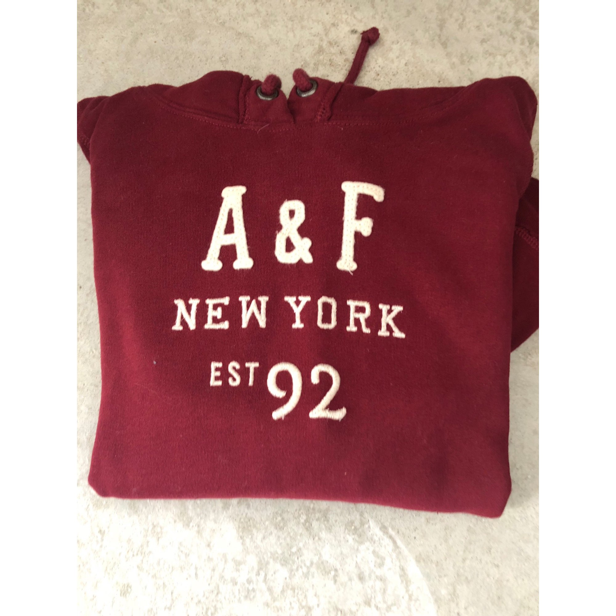 Pull ABERCROMBIE & FITCH Rouge, bordeaux